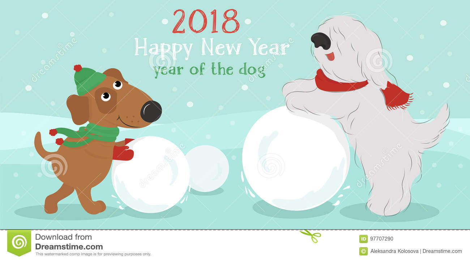 ουρανός santa του Klaus παγετού Χριστουγέννων καρτών τσαντών Σκυλιά με τη χιονιά