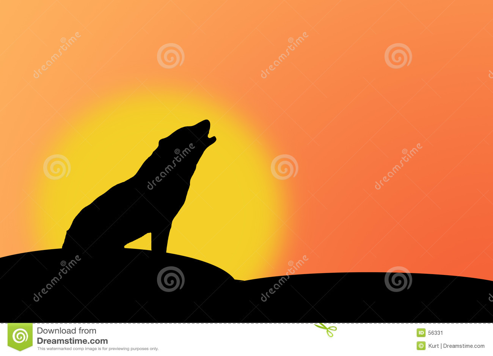 ουρλιάζοντας λύκος