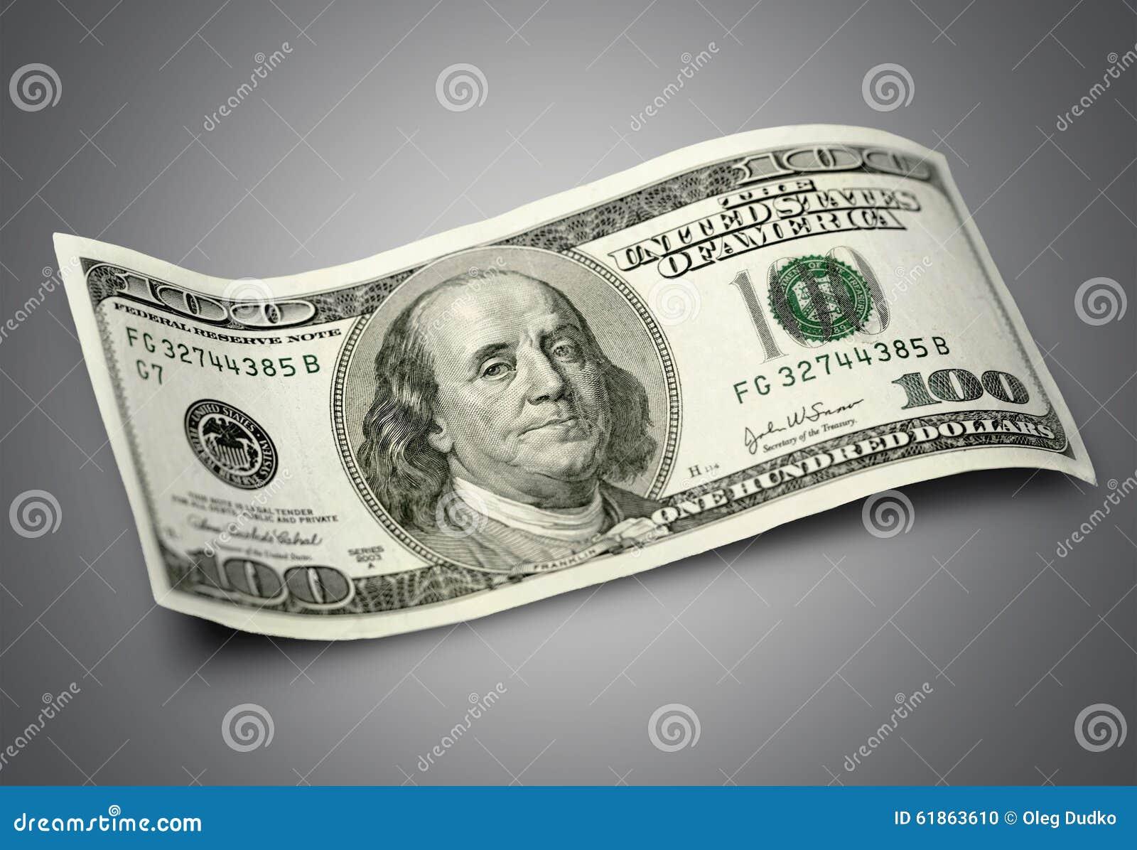 δολάριο εκατό λογαριασμών ένα