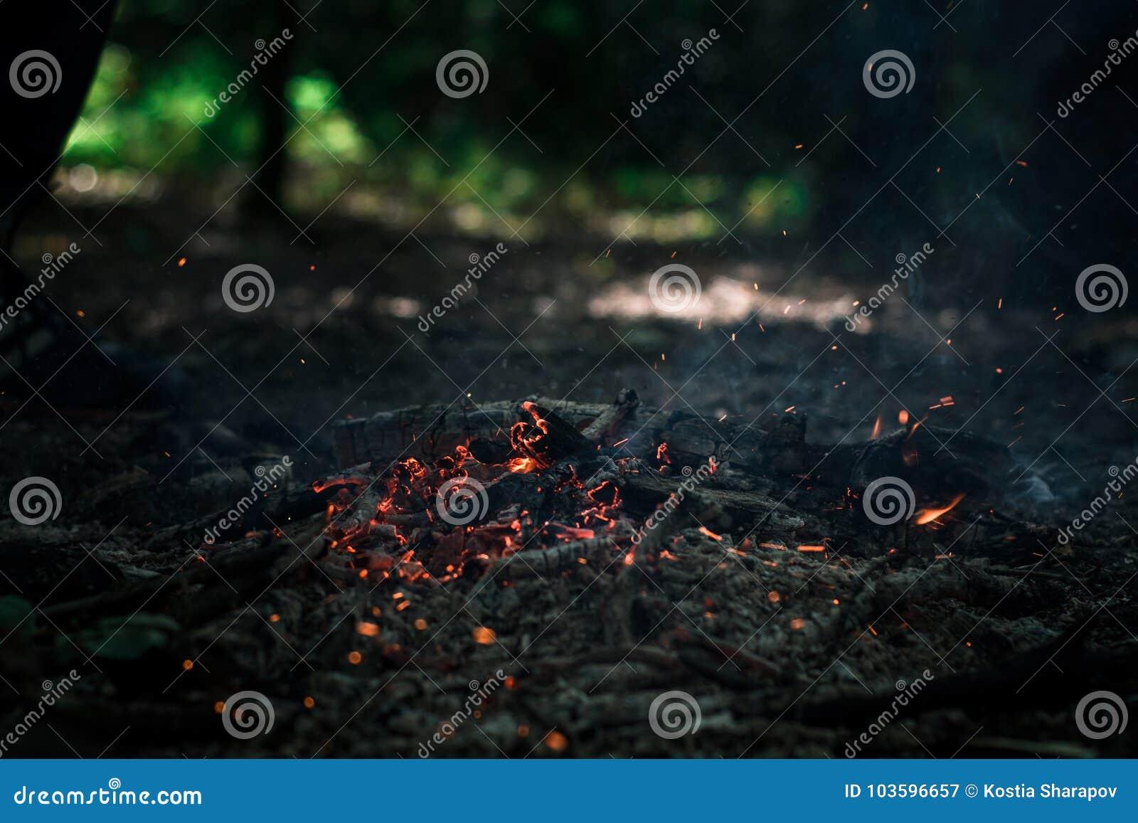 Ο αέρας φυσά στους άνθρακες