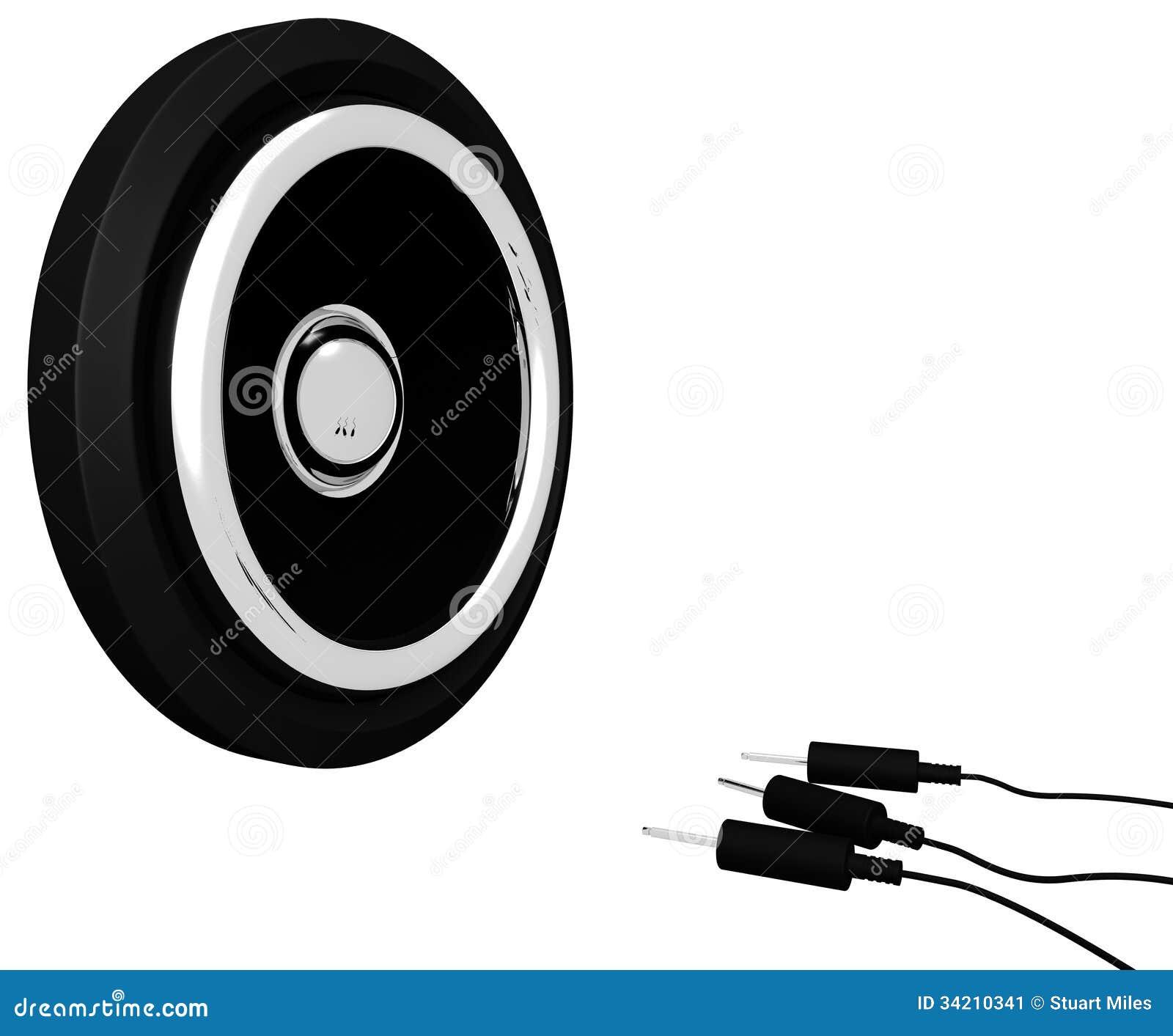 Ο ακουστικός ομιλητής παρουσιάζει το μουσικά εξοπλισμό ή μεγάφωνα