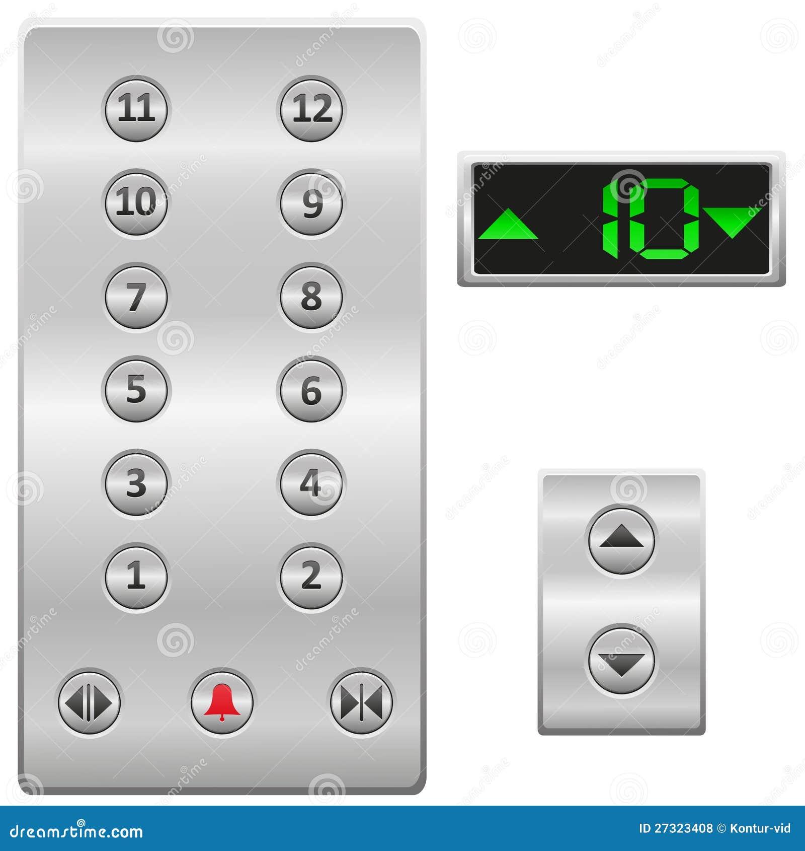 Ο ανελκυστήρας κουμπώνει τη διανυσματική απεικόνιση επιτροπής