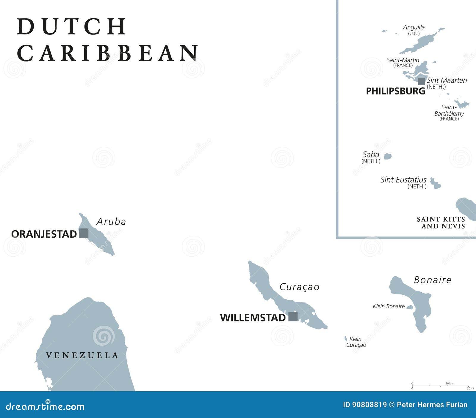 Ολλανδικός καραϊβικός πολιτικός χάρτης