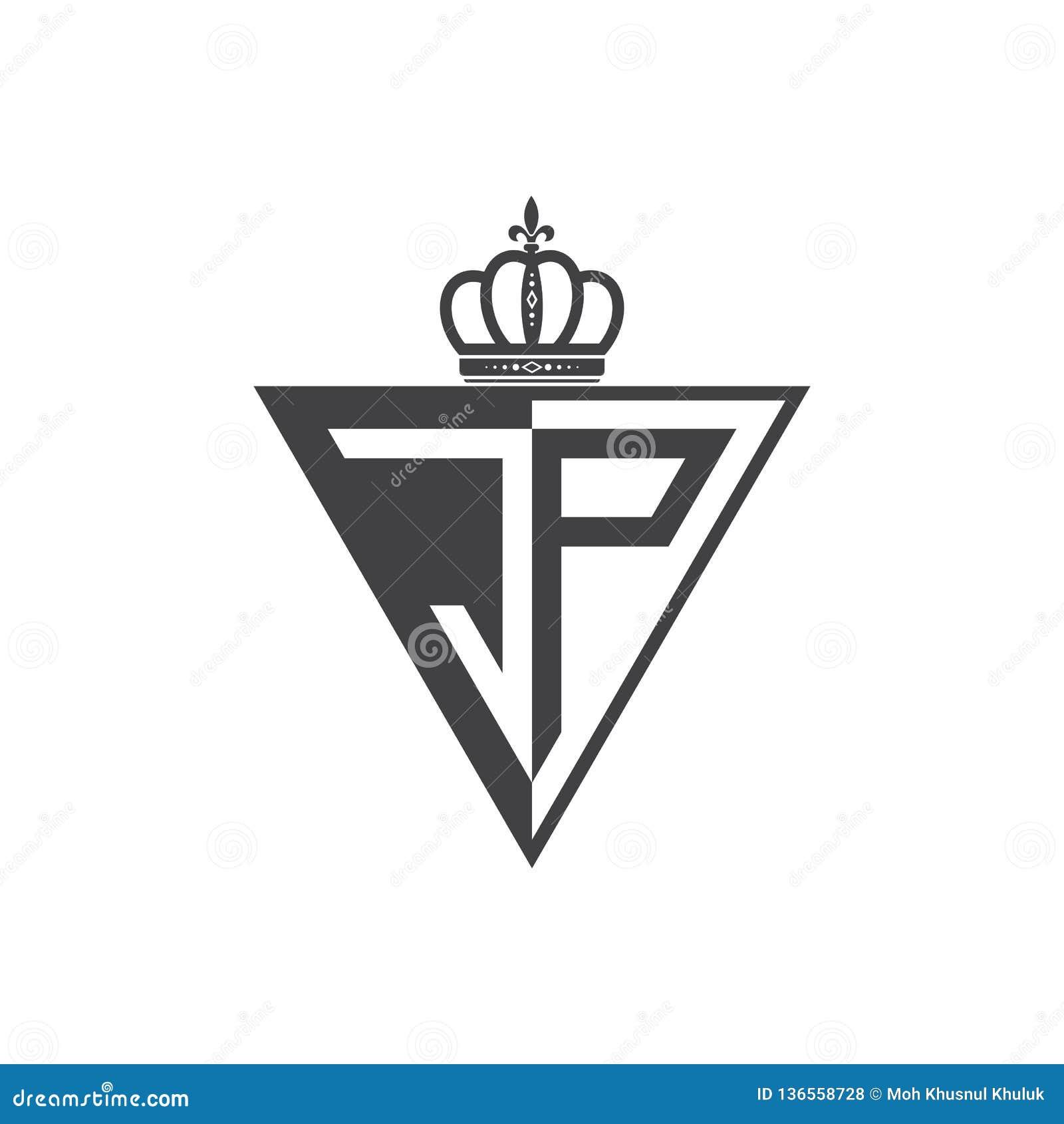Ο αρχικός δύο επιστολών Μαύρος τριγώνων λογότυπων της JP μισός