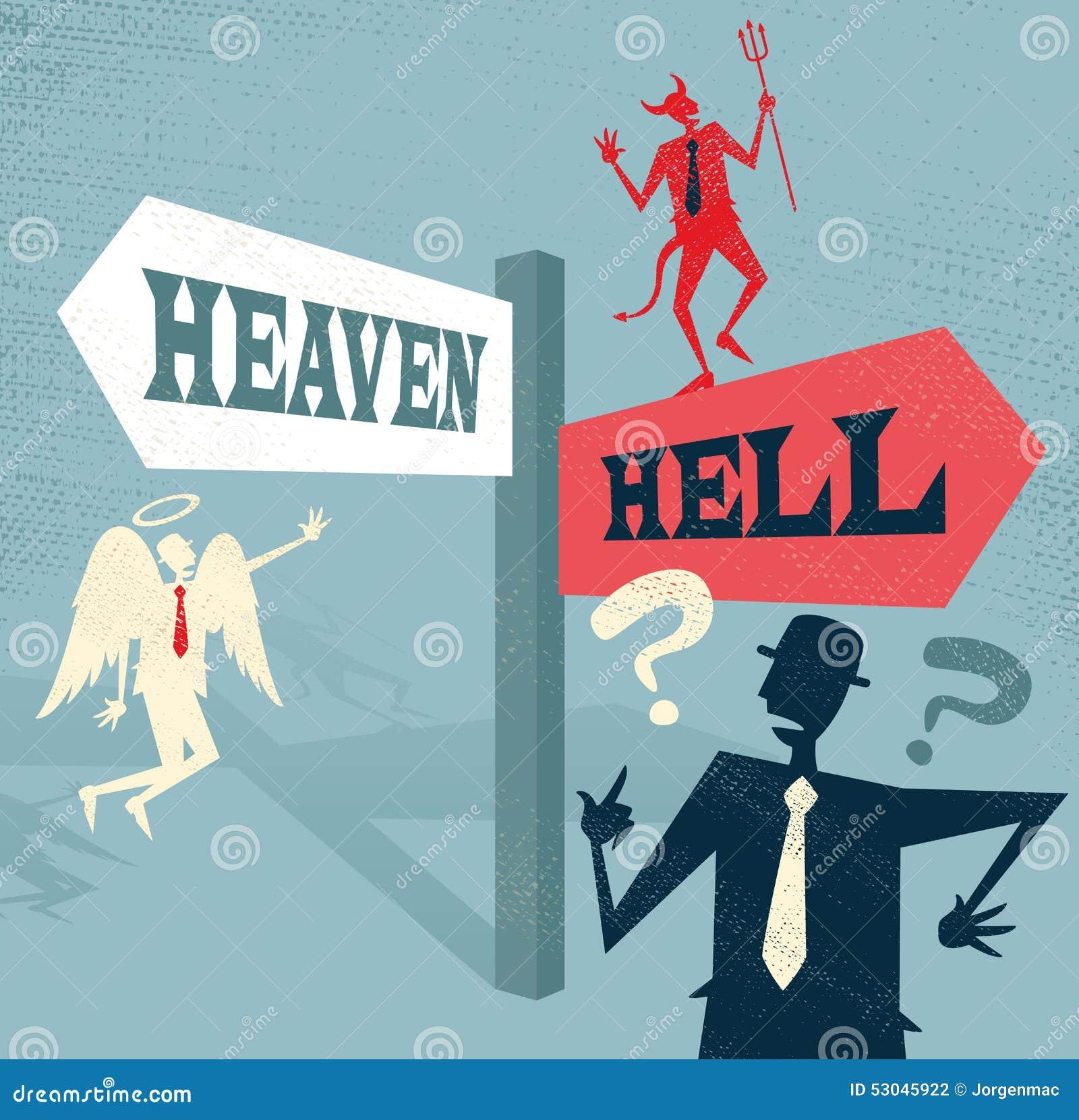 Ο αφηρημένος επιχειρηματίας στον ουρανό και η κόλαση καθοδηγούν