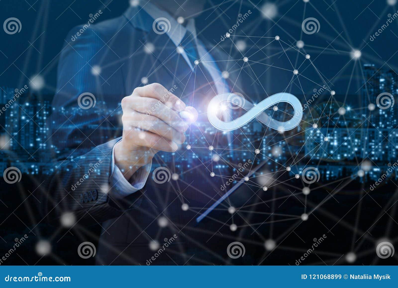 Ο επιχειρηματίας σύρει απεριόριστο Διαδίκτυο