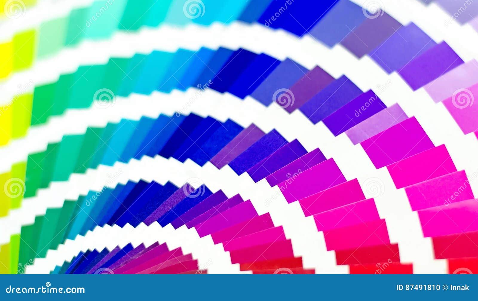 Οδηγός παλετών χρώματος Το δείγμα χρωματίζει τον κατάλογο φωτεινό eps 10 ανασκόπησης πολύχρωμο διάνυσμα RGB CMYK Σπίτι εκτύπωσης