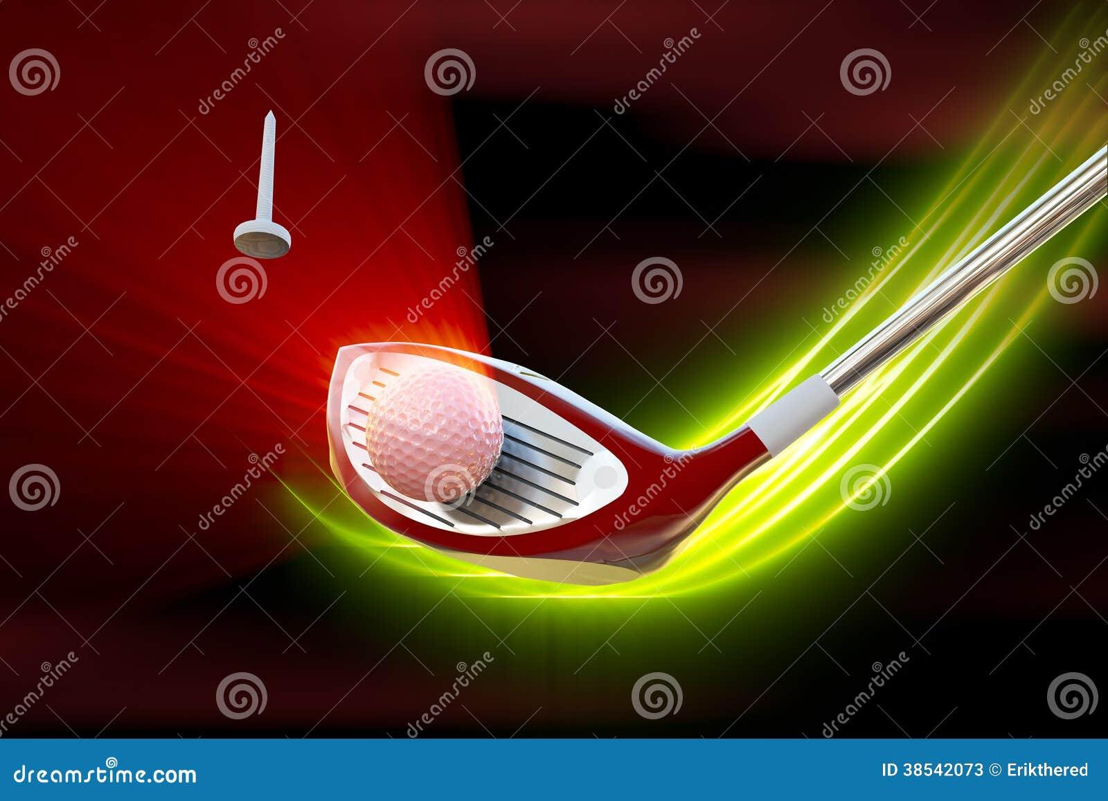 Οδηγός που χτυπά μια σφαίρα γκολφ