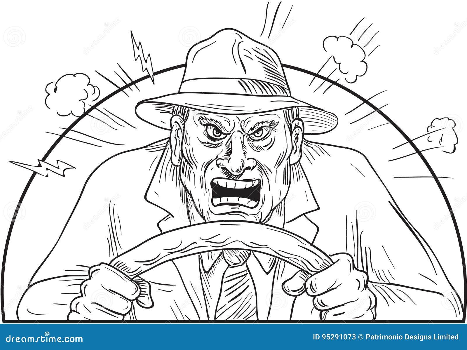 0 οδηγός στην τρελλή οδική οργή
