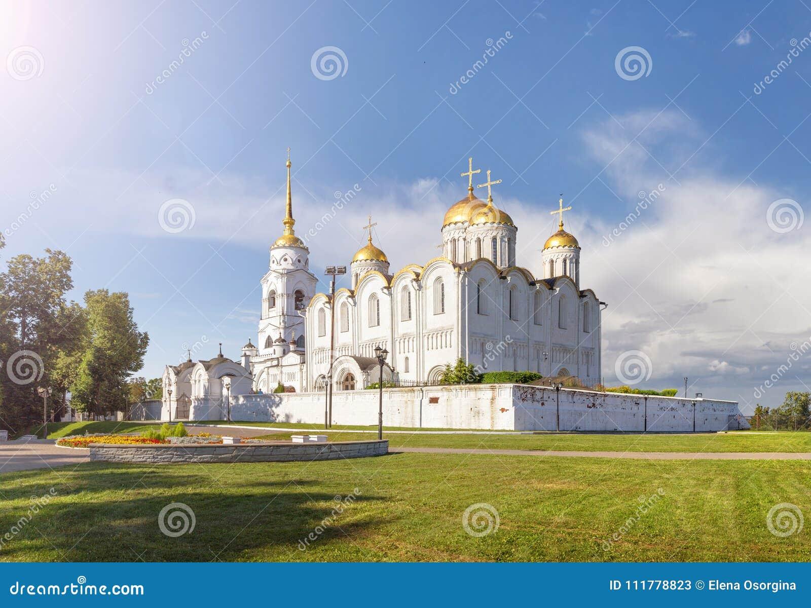 Ο ιερός καθεδρικός ναός Dormition Ρωσία vladimir