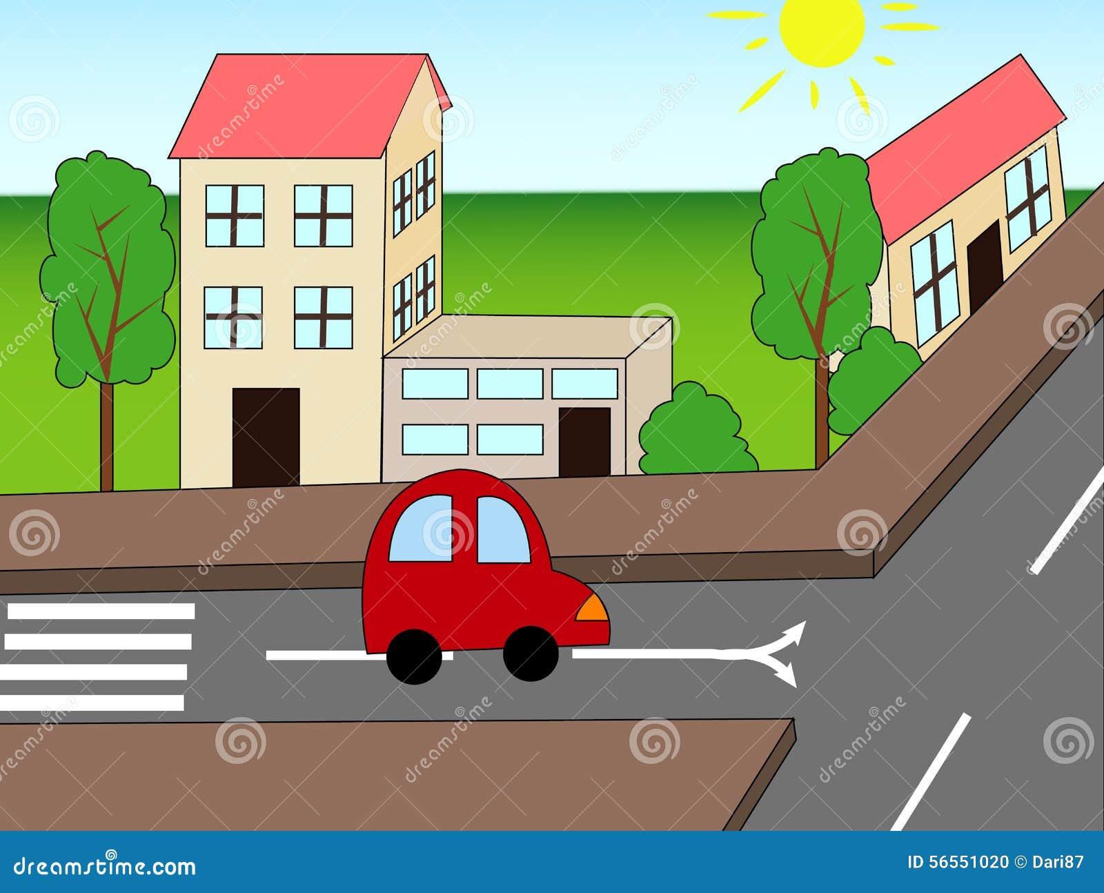 Download Οδική απεικόνιση διανυσματική απεικόνιση. εικονογραφία από cartoon - 56551020