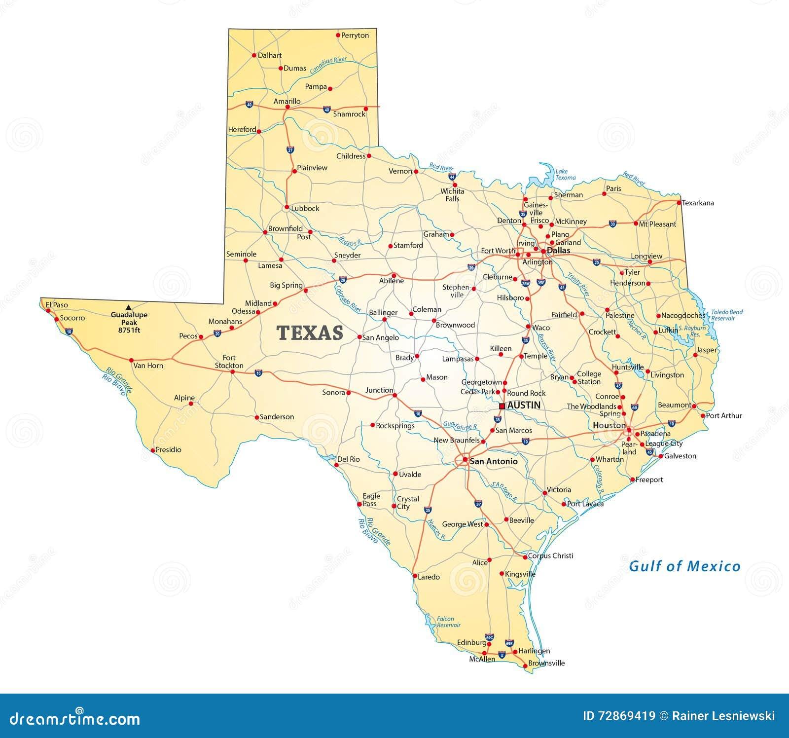 Οδικός χάρτης Τέξας