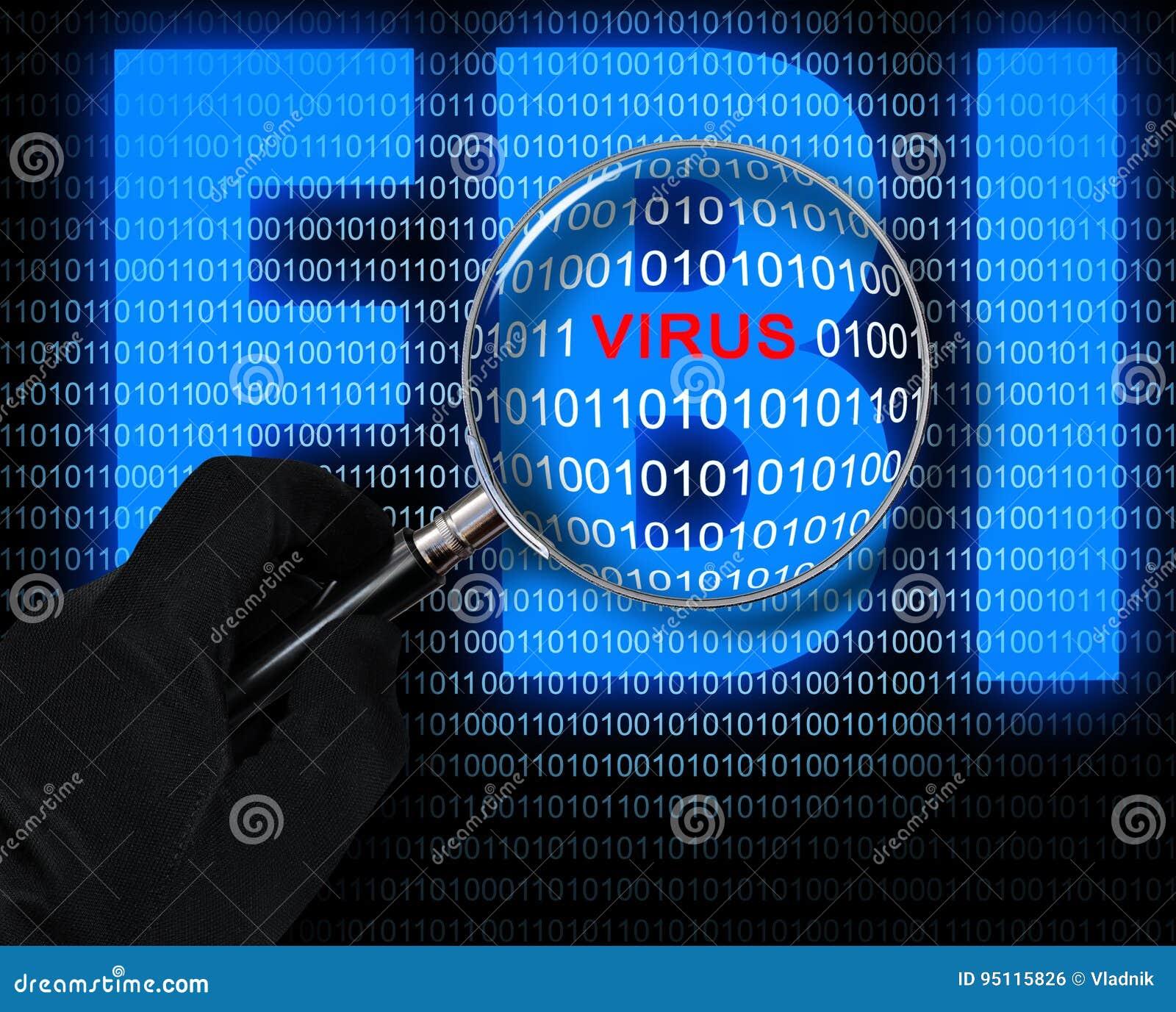 Ο ιός και το λογότυπο FBI
