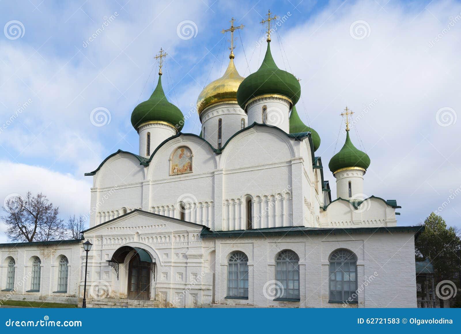 Ο καθεδρικός ναός μεταμόρφωσης στο μοναστήρι του ST Euthymius στο Σούζνταλ χτίστηκε ο 16ος αιώνας Χρυσό δαχτυλίδι του ταξιδιού τη