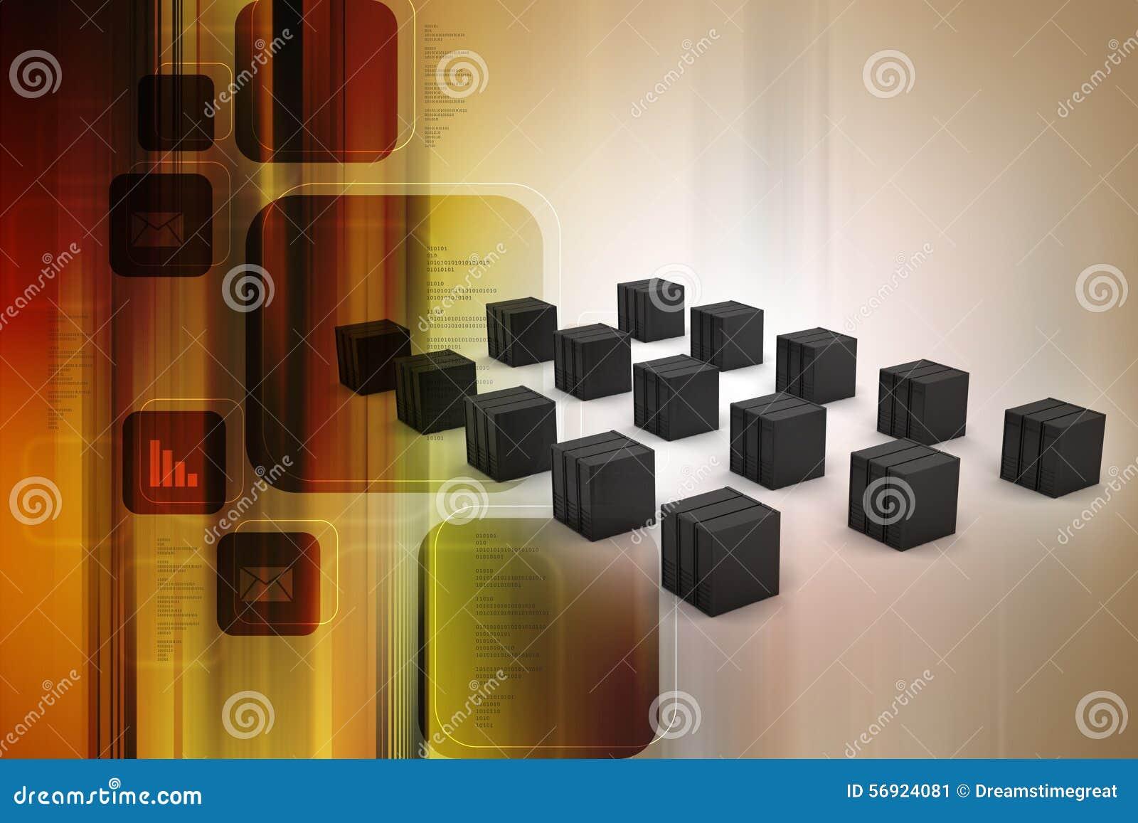 Ο κεντρικός υπολογιστής και τα στοιχεία εισάγονται