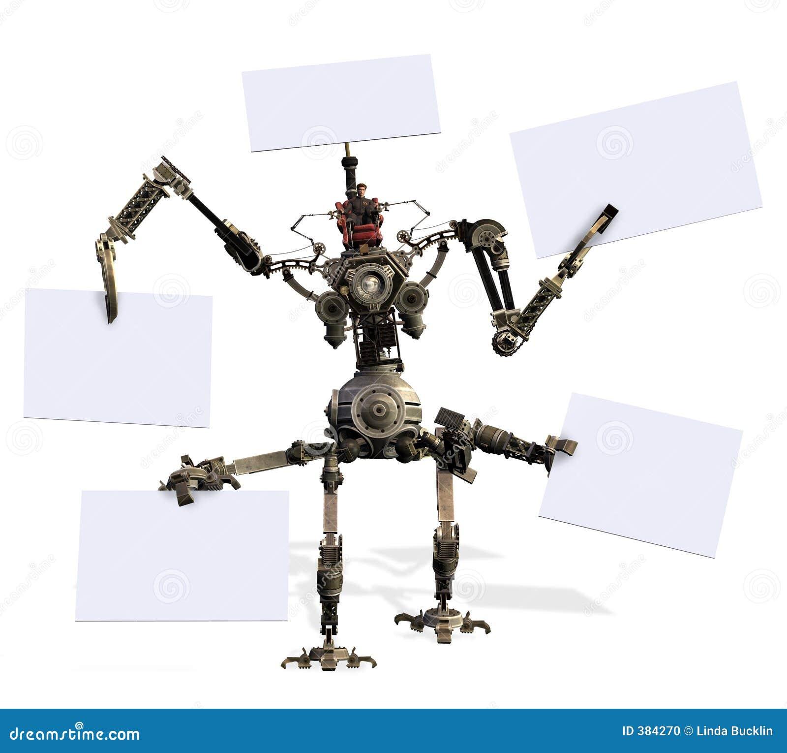 ο κενός ψαλιδίζοντας γίγαντας περιλαμβάνει τα σημάδια ρομπότ μονοπατιών