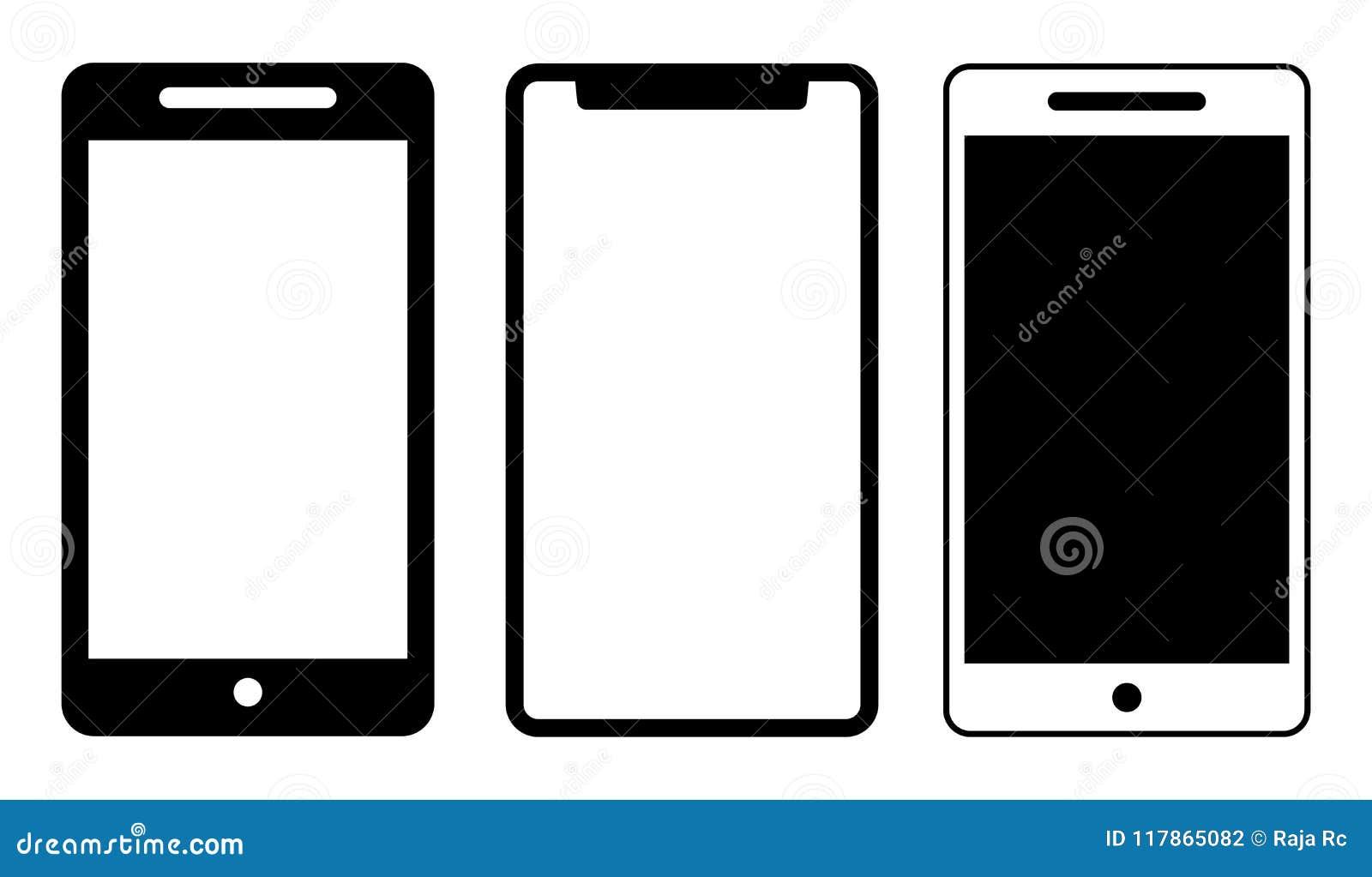 Ο κινητός Μαύρος προτύπων τηλεφωνικών εικονιδίων