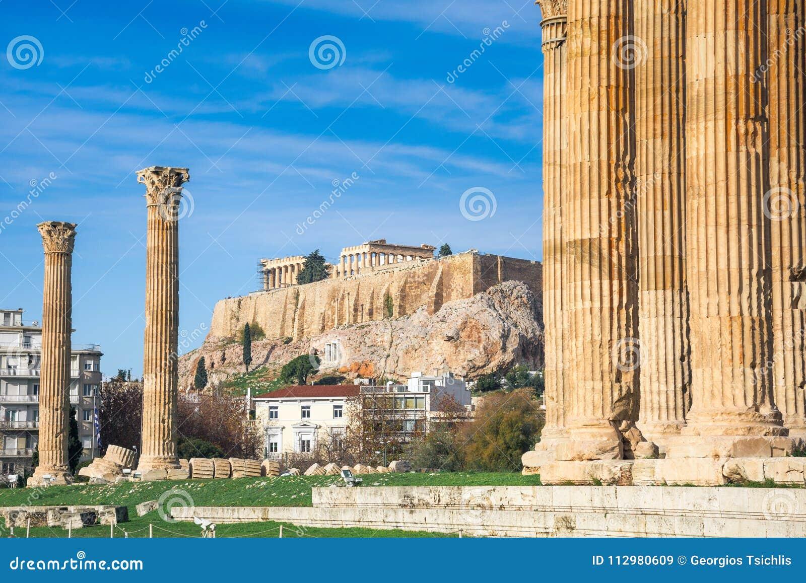Ο ναός Olympian Zeus ελληνικά: Tou Olimpiou Dios NAO (Εθνικός Οργανισμός Διαιτησίας), επίσης γνωστό ως Olympieion, Αθήνα