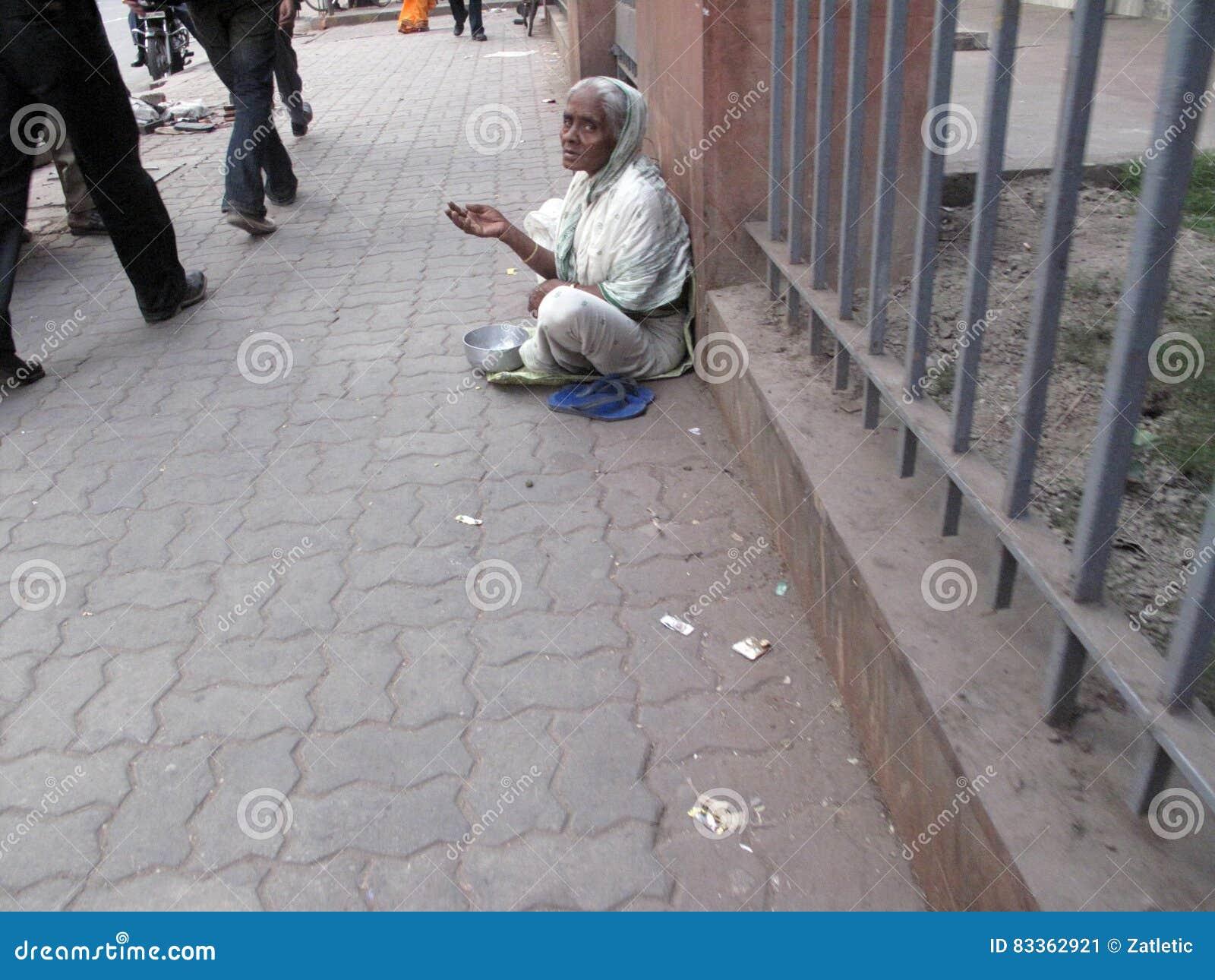 Οδοί Kolkata, επαίτες