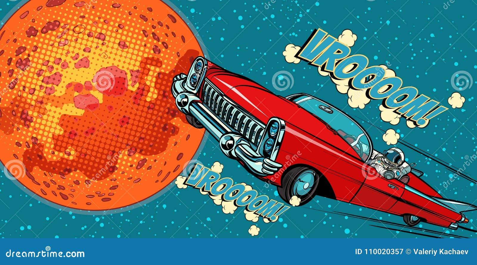 Ο οδηγός αστροναυτών στο αυτοκίνητο στον Άρη