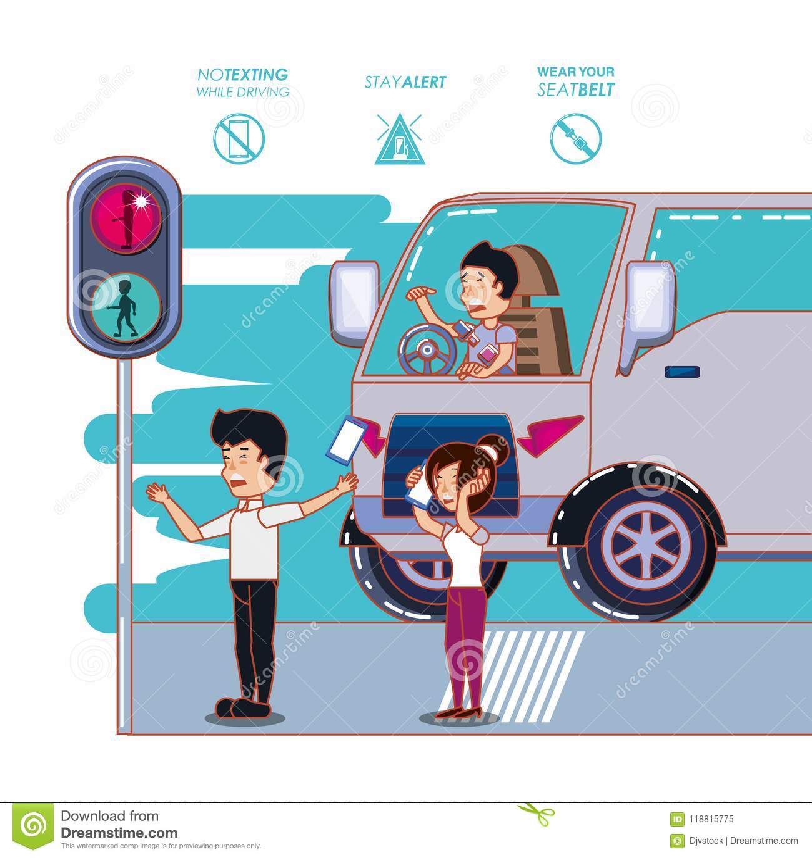 Ο οδηγός κάνει εκστρατεία ακίνδυνα ετικέτα