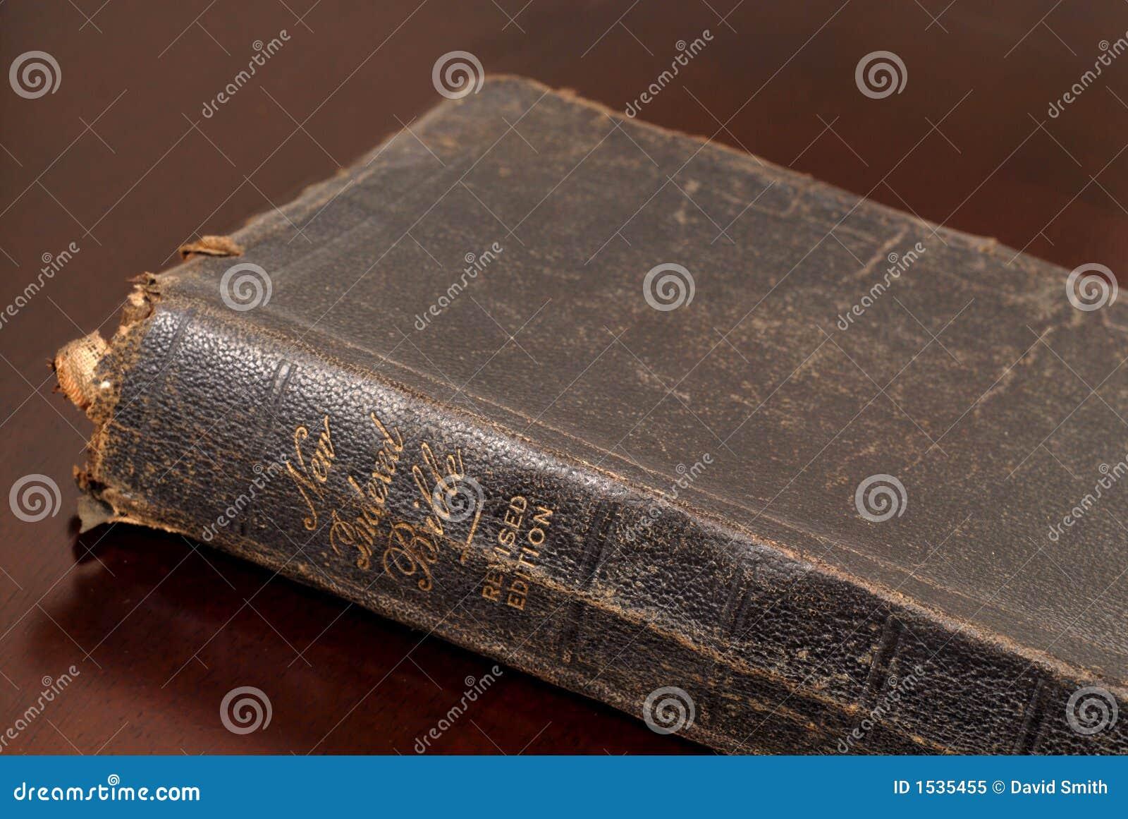 ο παλαιός στηργμένος πίνακας στενών συγγενών Βίβλων επάνω πολύ εμφανίζει