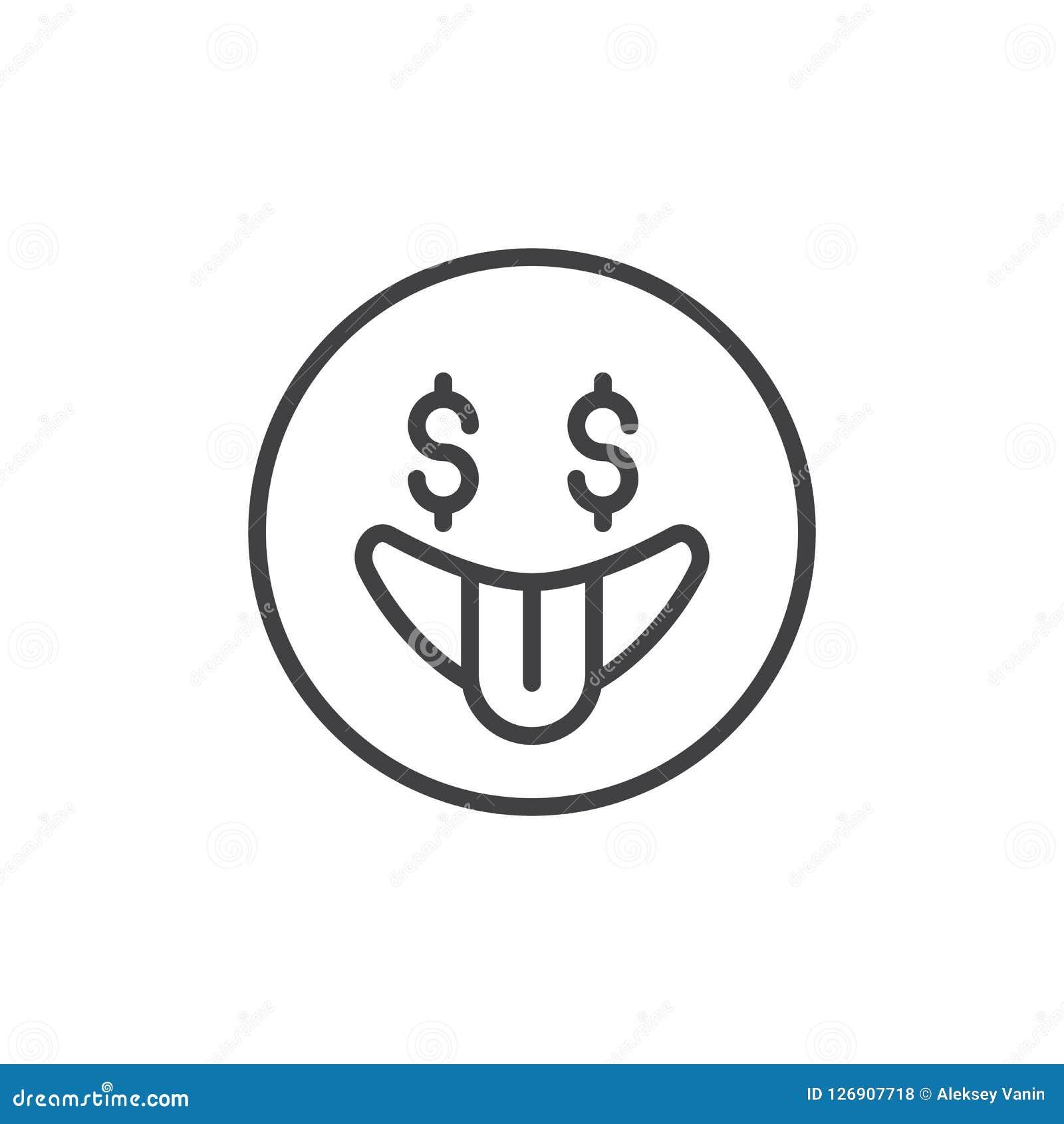 Ο πυρετός χρημάτων emoticon περιγράφει το εικονίδιο