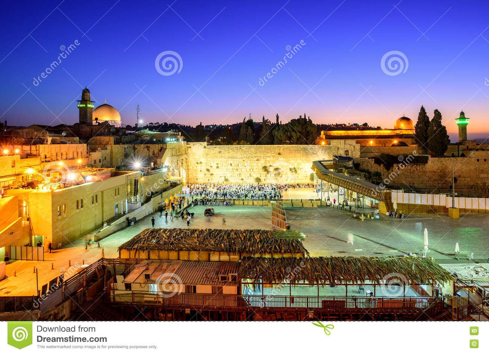 Ο δυτικοί τοίχος και ο ναός τοποθετούν, Ιερουσαλήμ, Ισραήλ