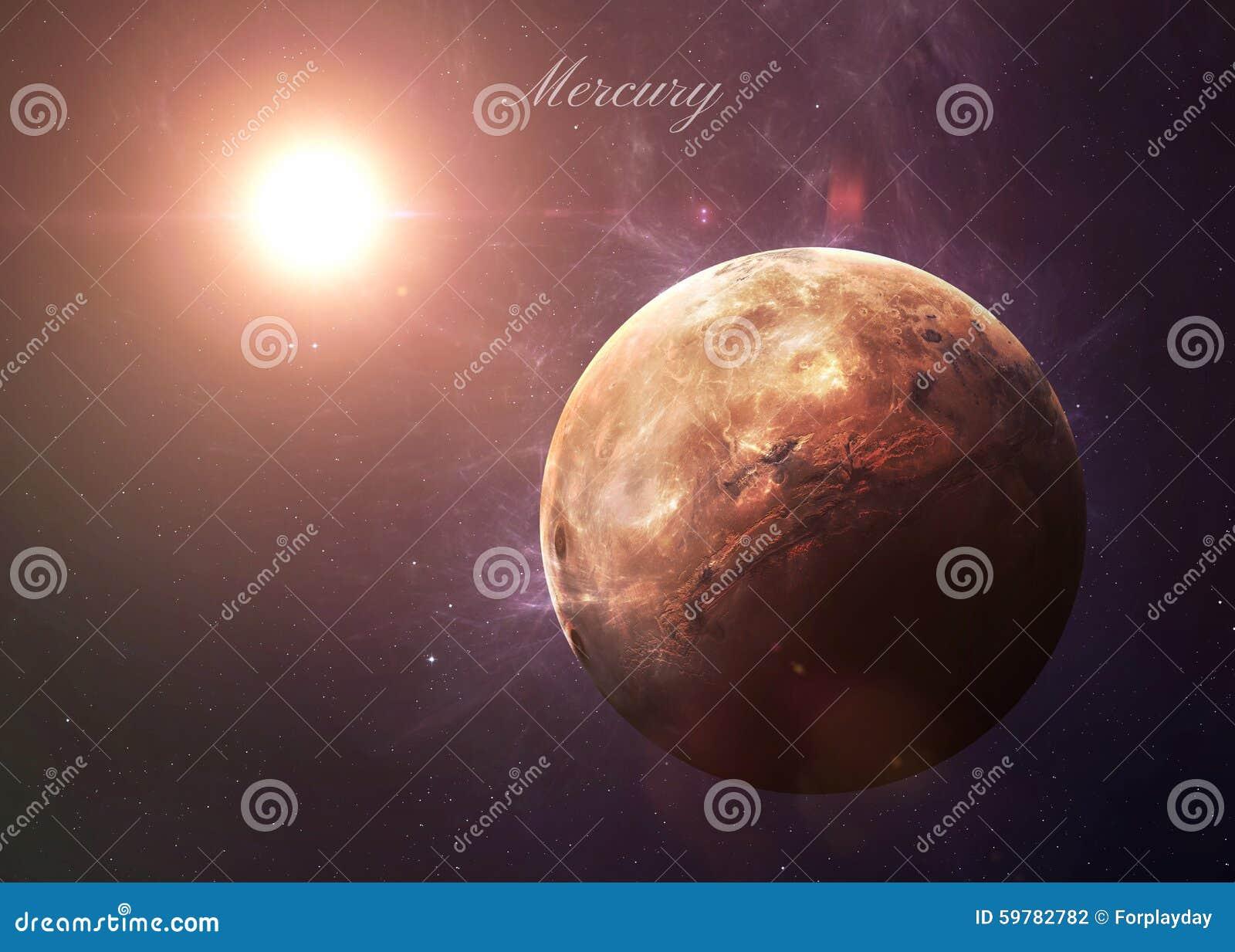 Ο υδράργυρος από τη διαστημική παρουσίαση όλη αυτοί ομορφιά