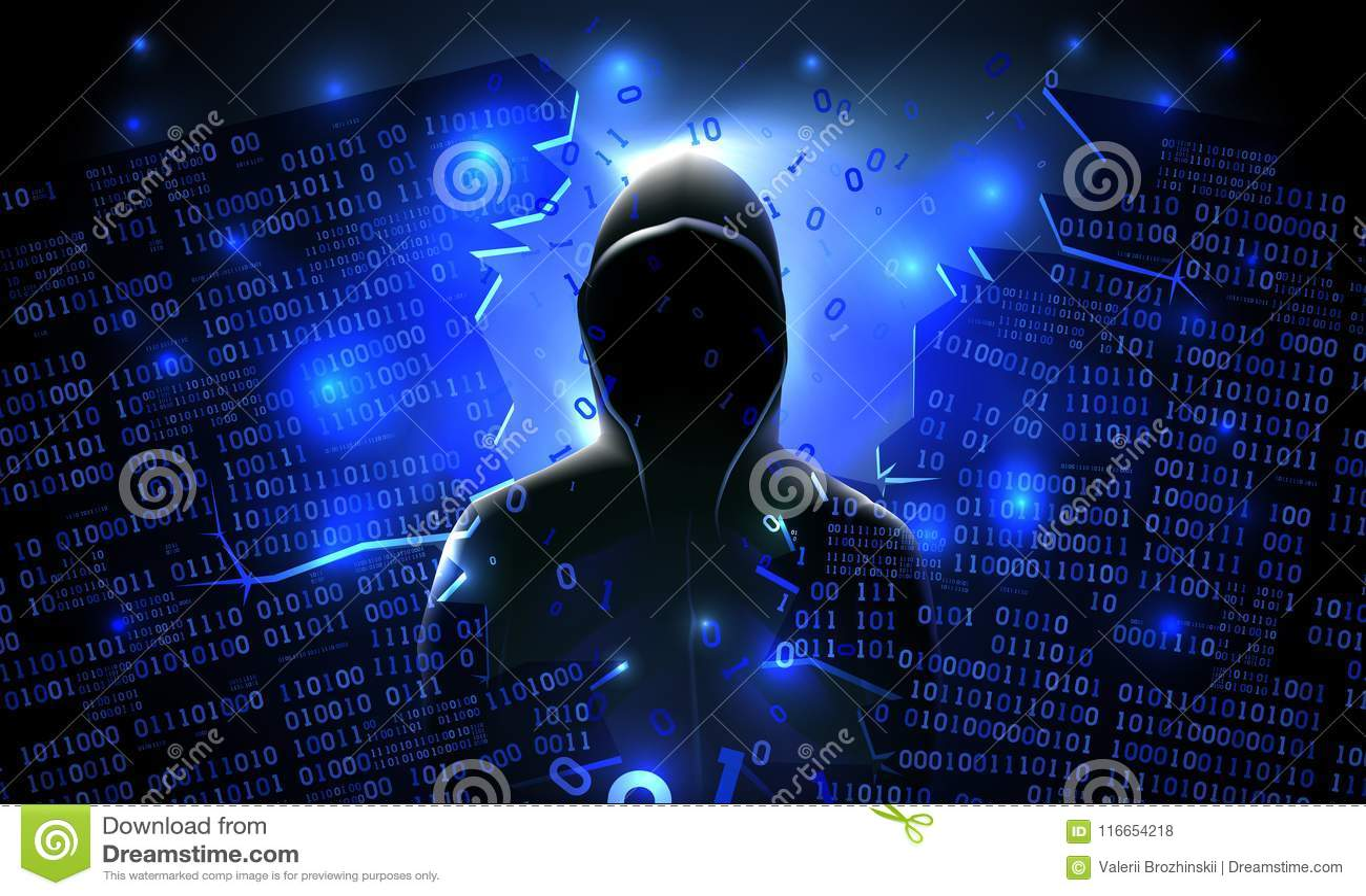 Ο χάκερ που χρησιμοποιεί Διαδίκτυο χάραξε τον αφηρημένο υπολογιστή, βάση δεδομένων, αποθήκευση δικτύων, αντιπυρική ζώνη, κοινωνικ