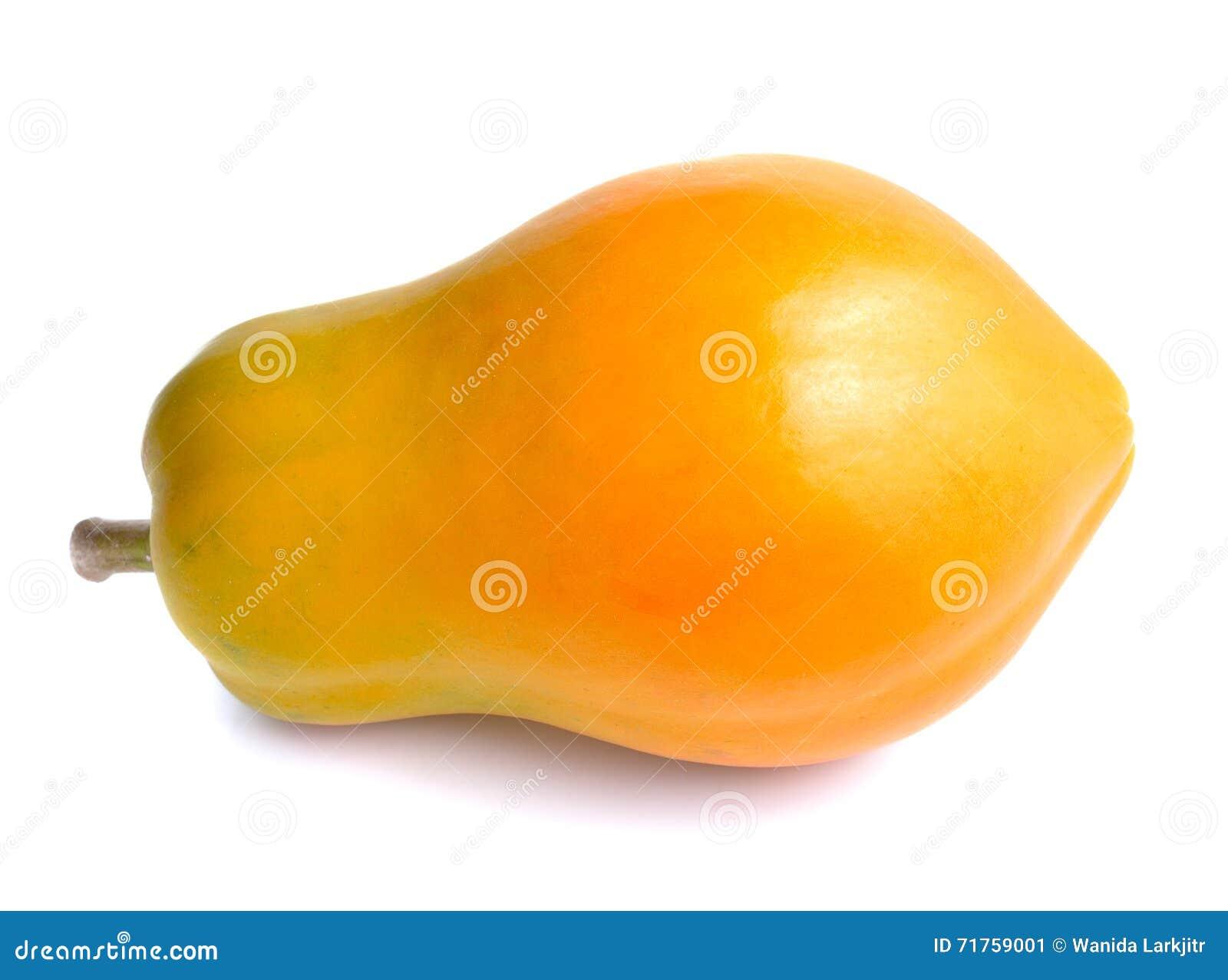 Ολόκληρα πράσινα κίτρινα papaya φρούτα