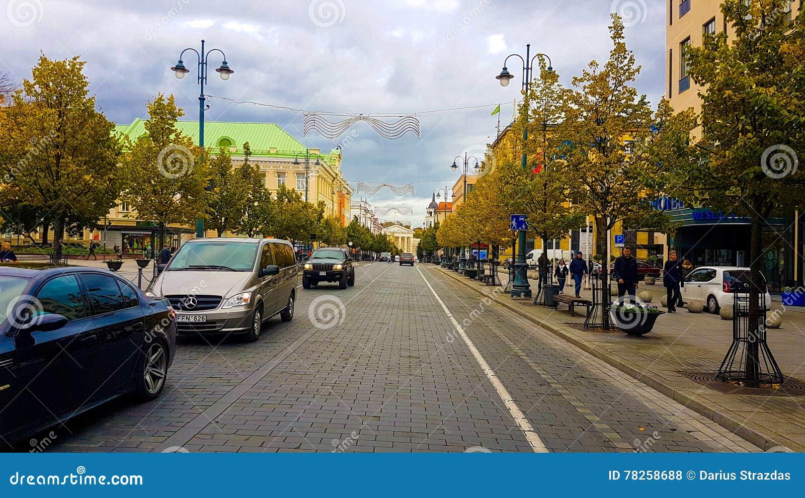 Οδός gediminas Vilnius