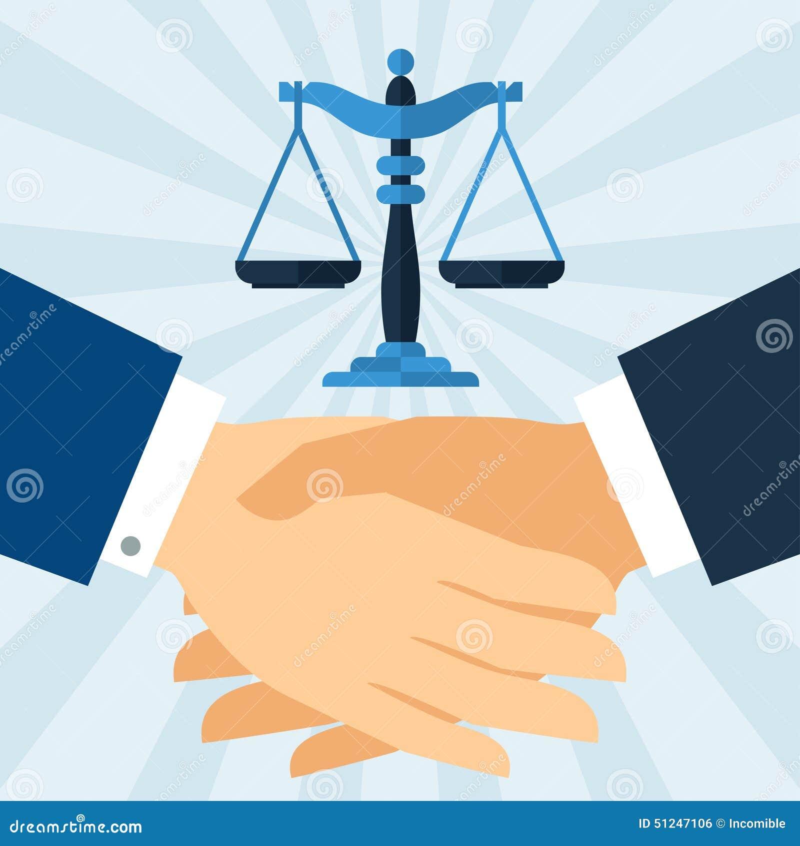 握手法律在平的设计样式的企业概念.图片