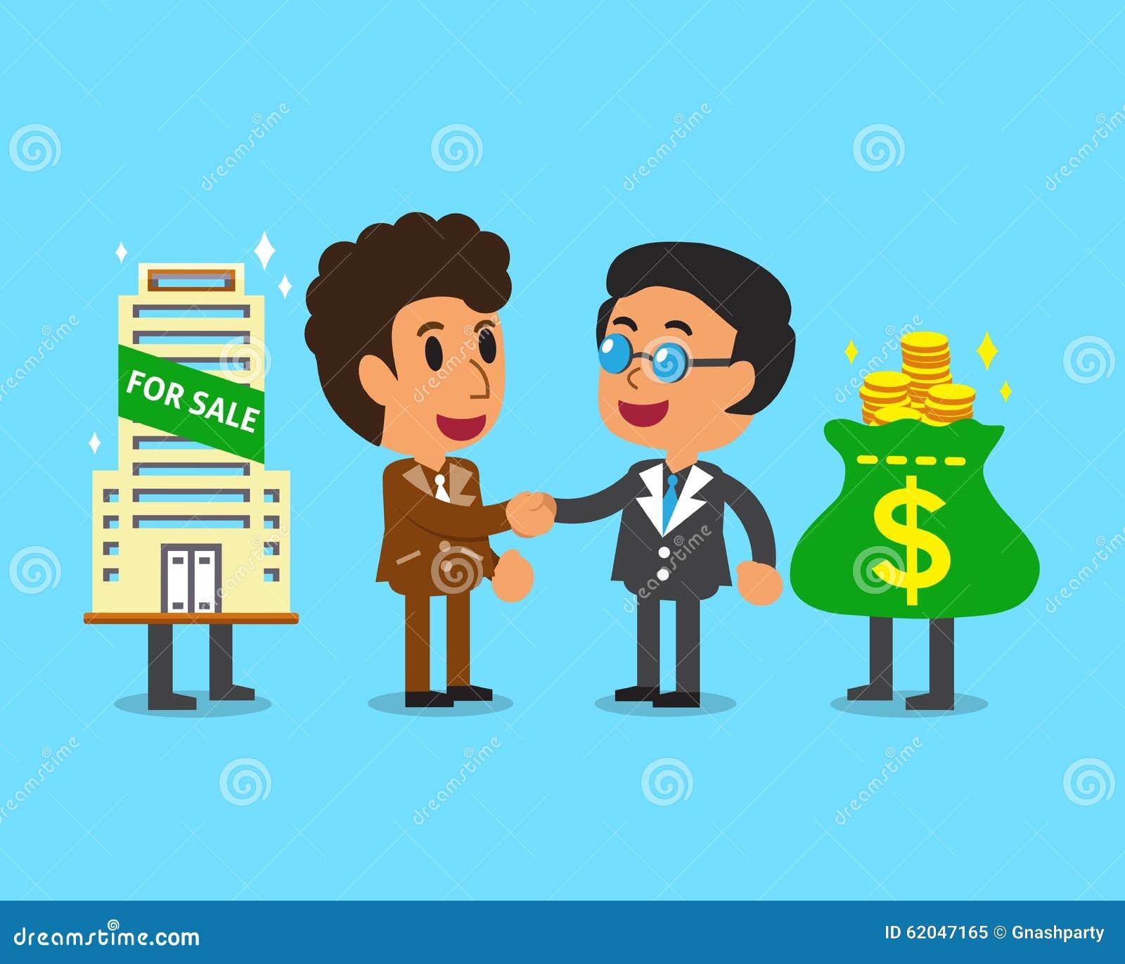 握手设计的不动产经纪人代理商人.图片