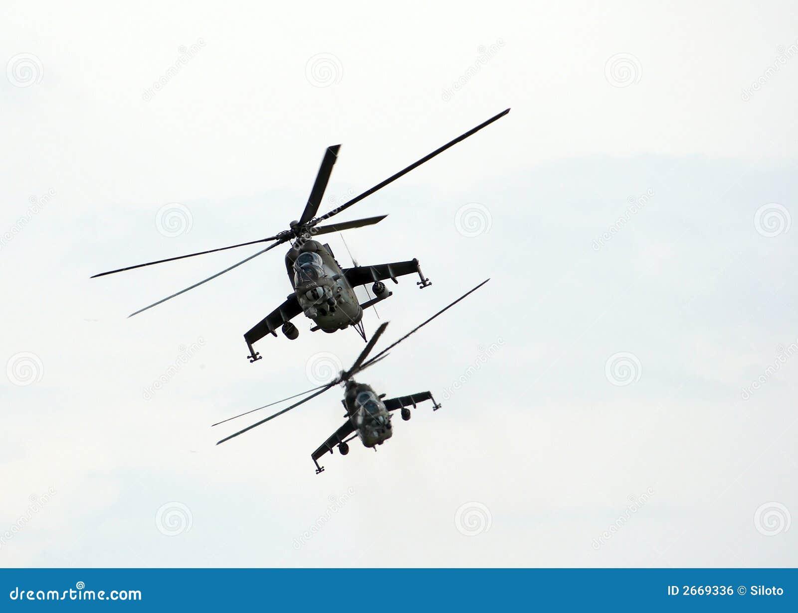 武装直升机 免版税库存图片