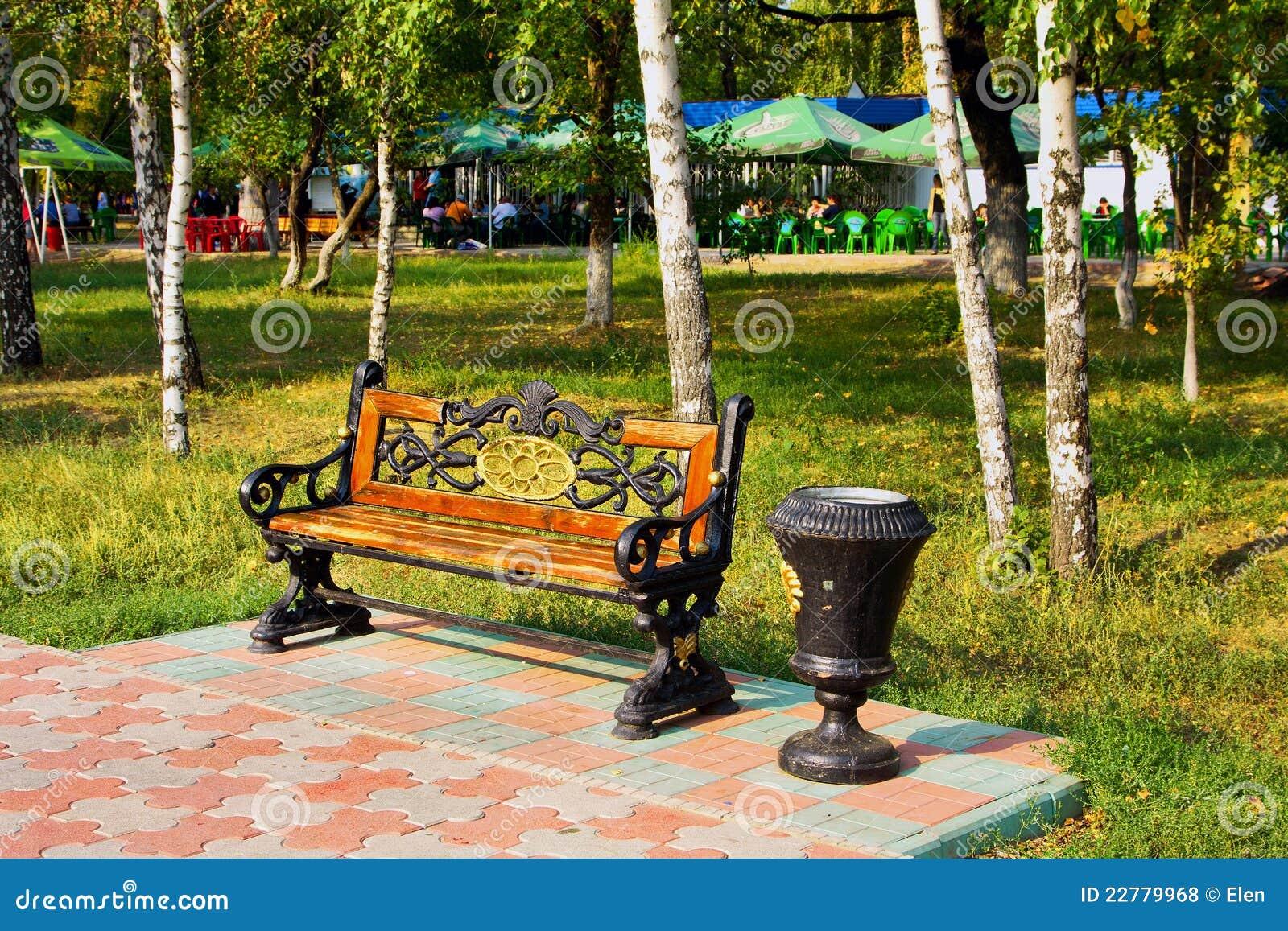Πάγκος στο πάρκο, Uralsk