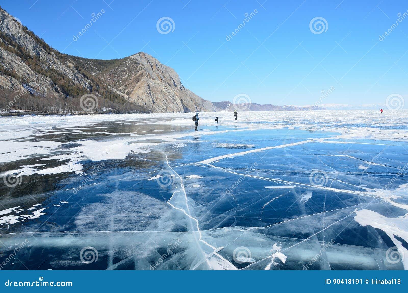 Πάγος της Ρωσίας, Baikal το Μάρτιο