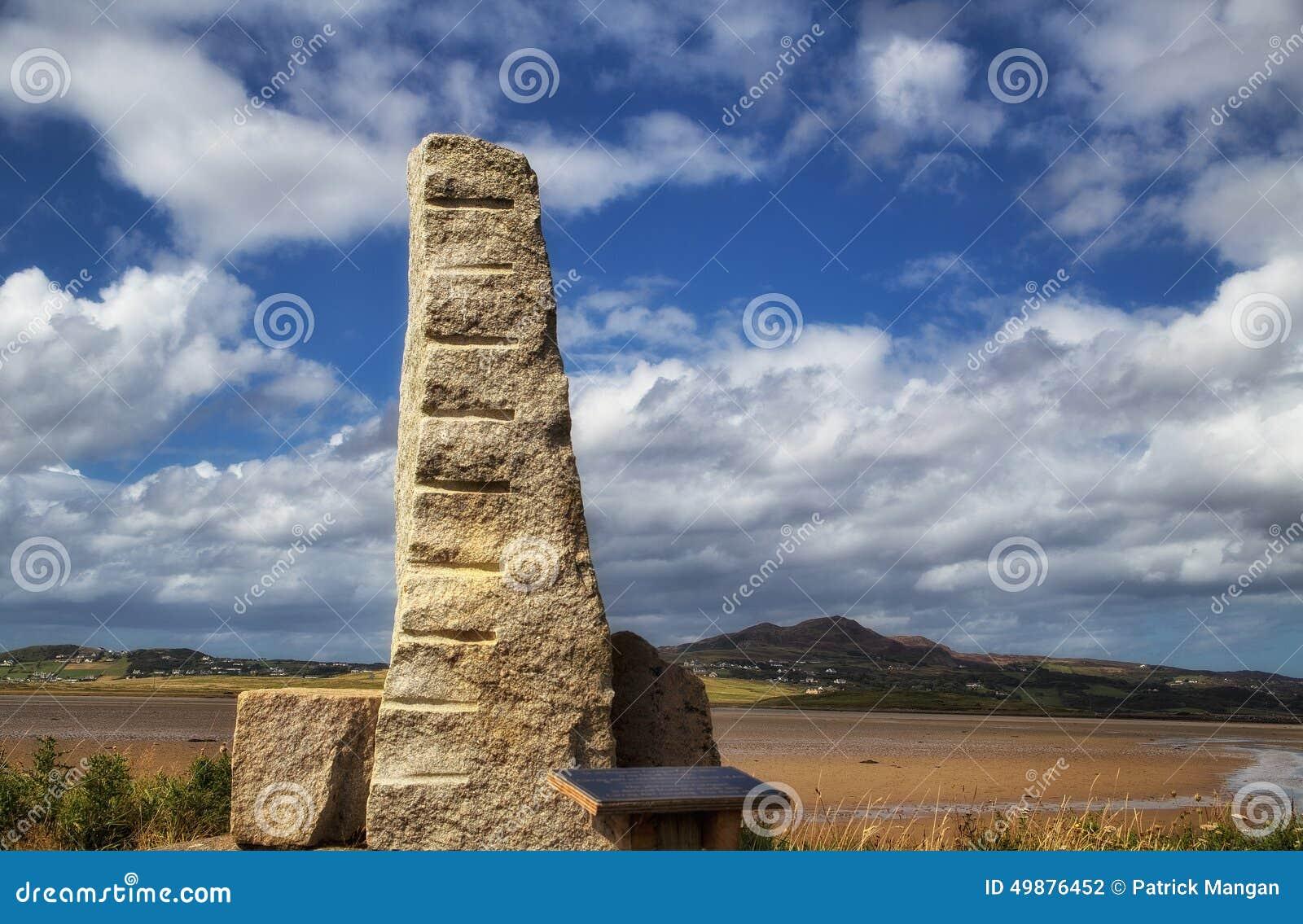 Πέτρα Ogham, Carrickart, κοβάλτιο Donegal, Ιρλανδία