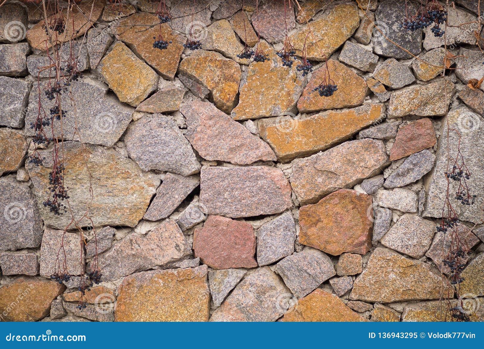 πέτρινος Τοίχος υποβάθρου των πετρών