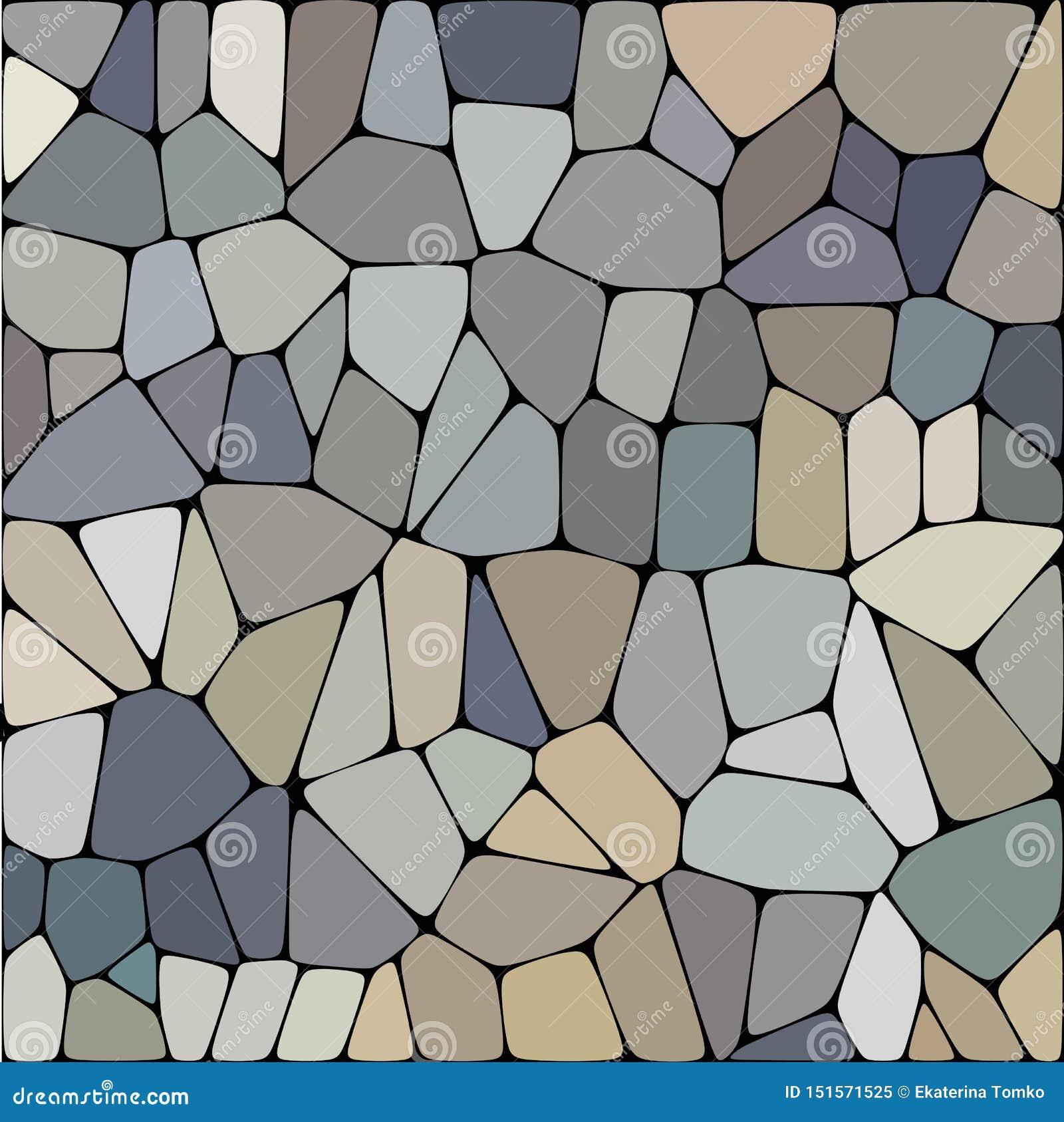 Πέτρινο πιάτο που στρώνει το άνευ ραφής σχέδιο Οι αφηρημένες γεωμετρικές διαστρεβλωμένες hexagon μορφές διακοσμούν τη διανυσματικ