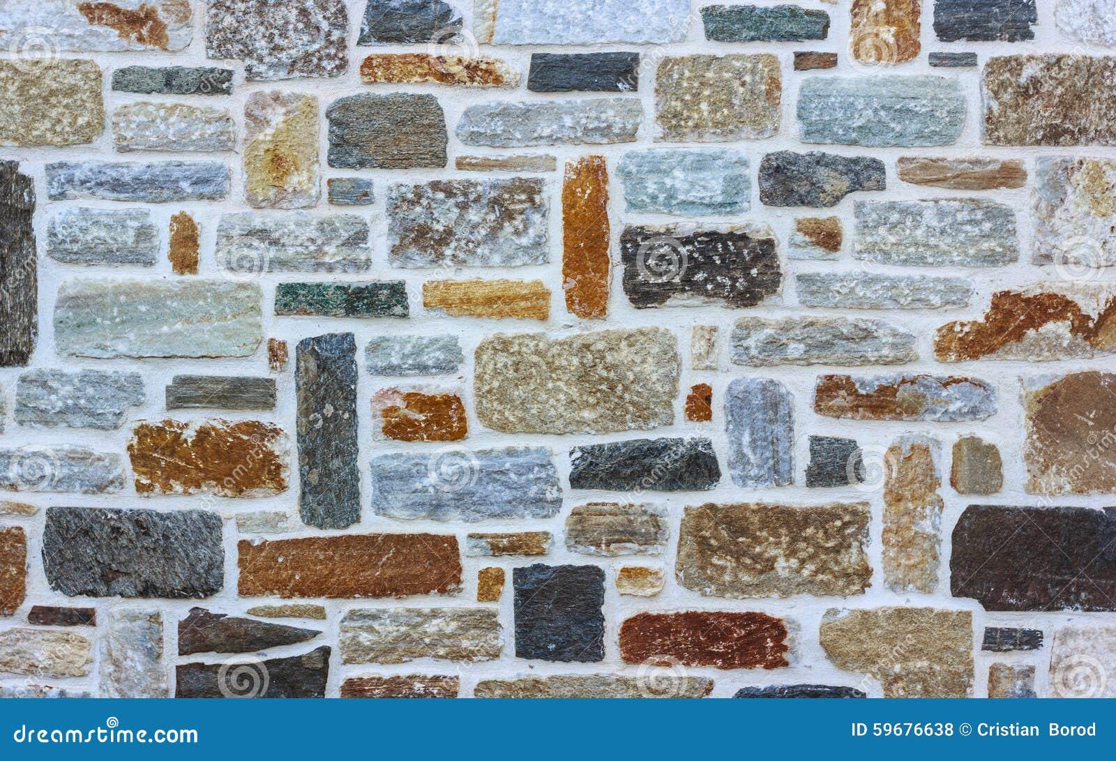 Πέτρινο υπόβαθρο σύστασης τοίχων τούβλου