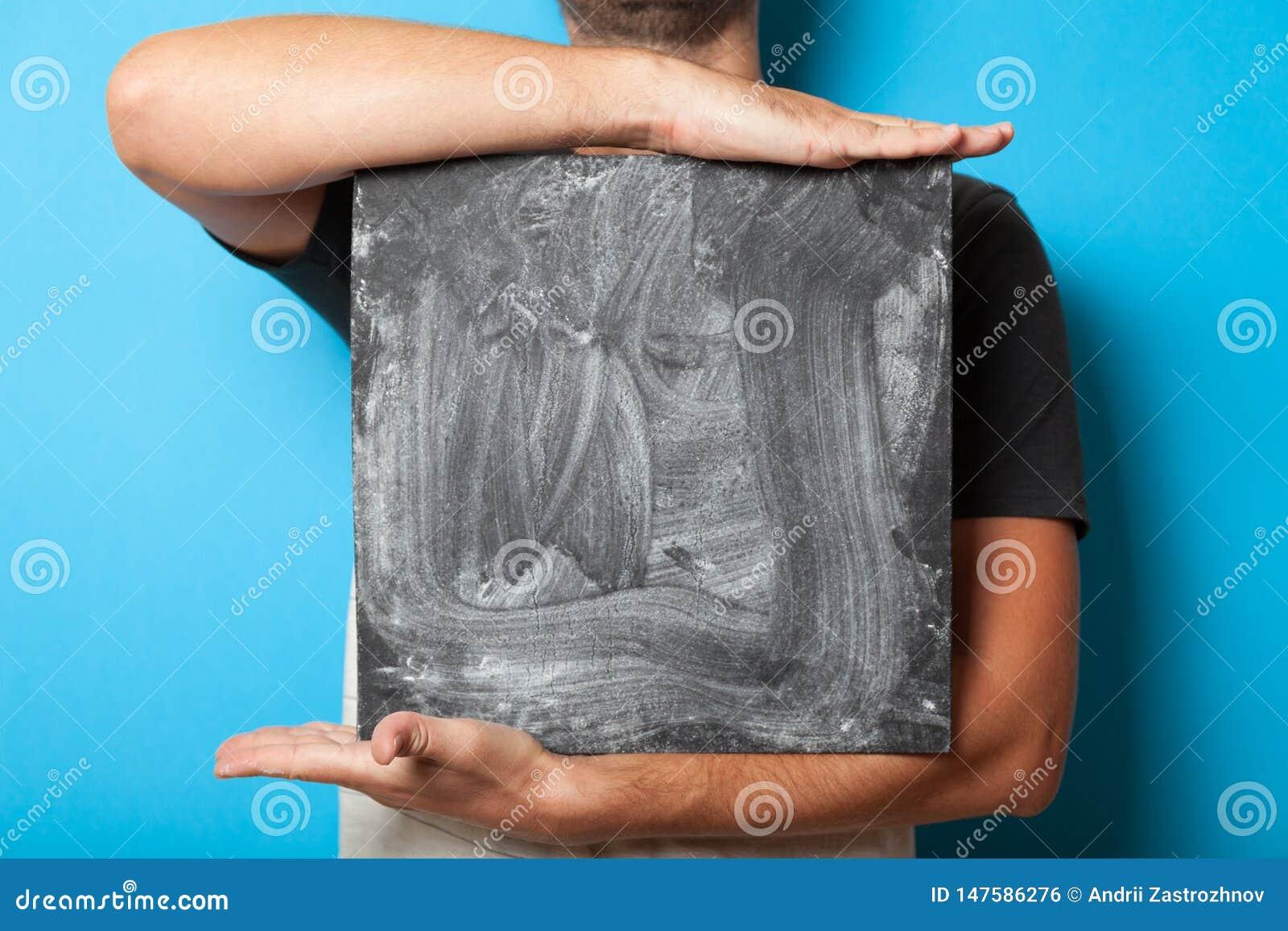 Πίνακας έννοιας, παρουσίαση διαφήμισης Μαύρη κάρτα αφισών σημαδιών, πίνακας διαφημίσεων κιμωλίας λαβής σπουδαστών
