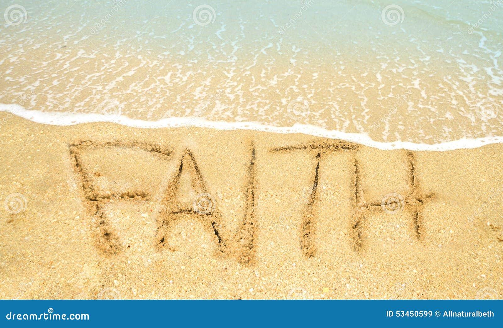 Πίστη λέξης στην άμμο