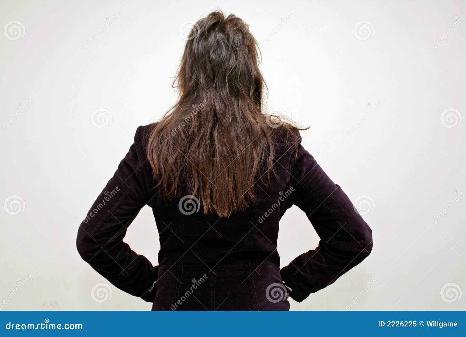 Download πίσω από το hairstyle στοκ εικόνα. εικόνα από μπακαράδων - 2226225