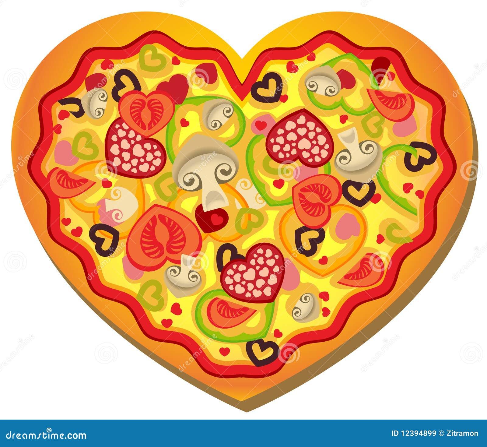 πίτσα καρδιών που διαμορφώ