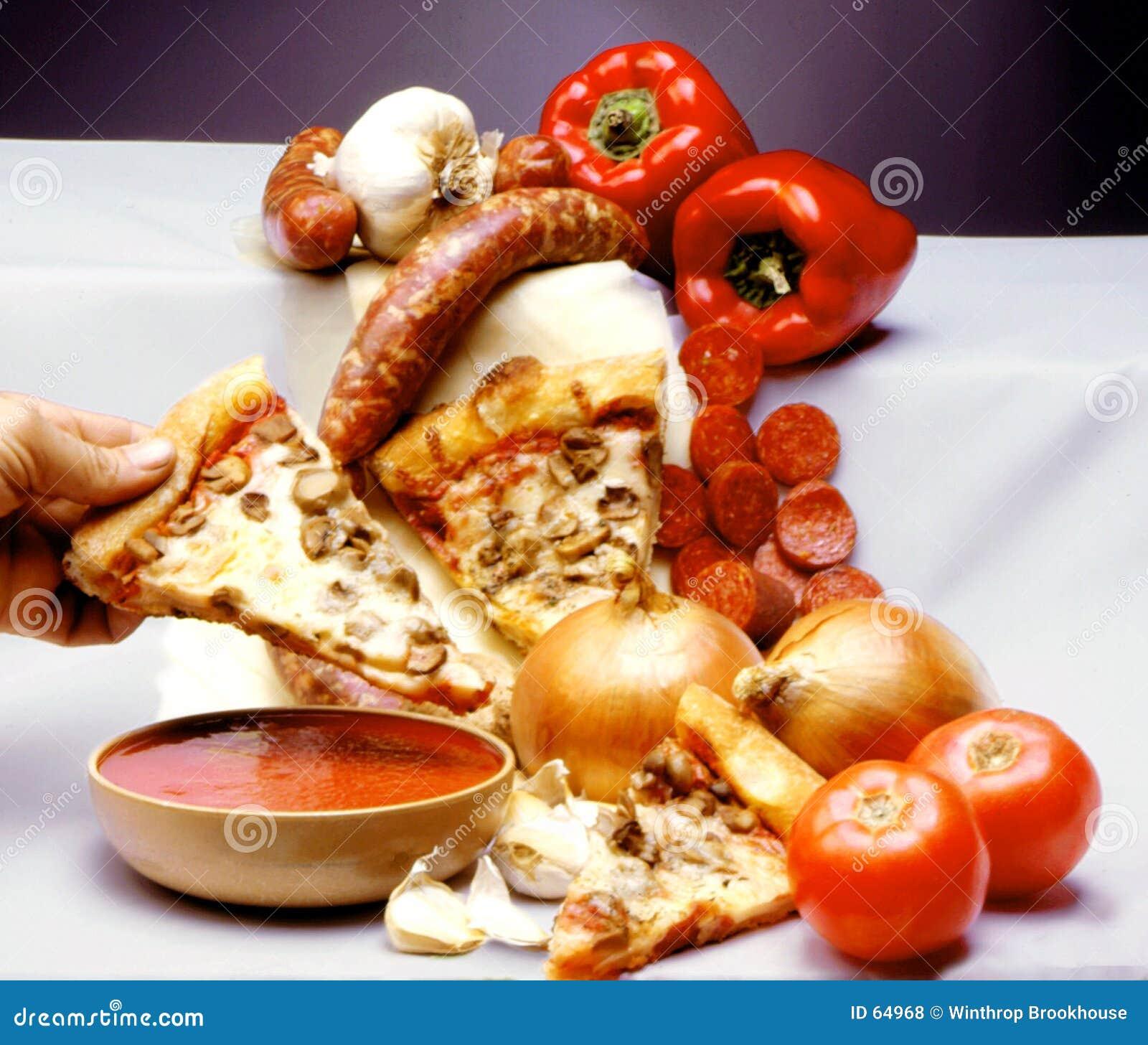 Download πίτσα στοκ εικόνες. εικόνα από ιταλικά, γρήγορα, συστατικά - 64968