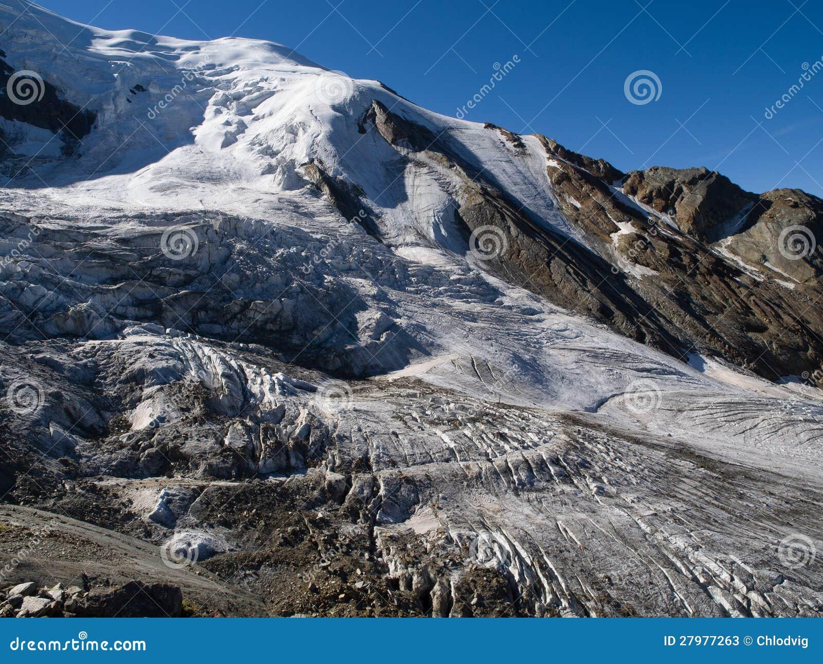 Παγετώνας στην αμοιβή Saas