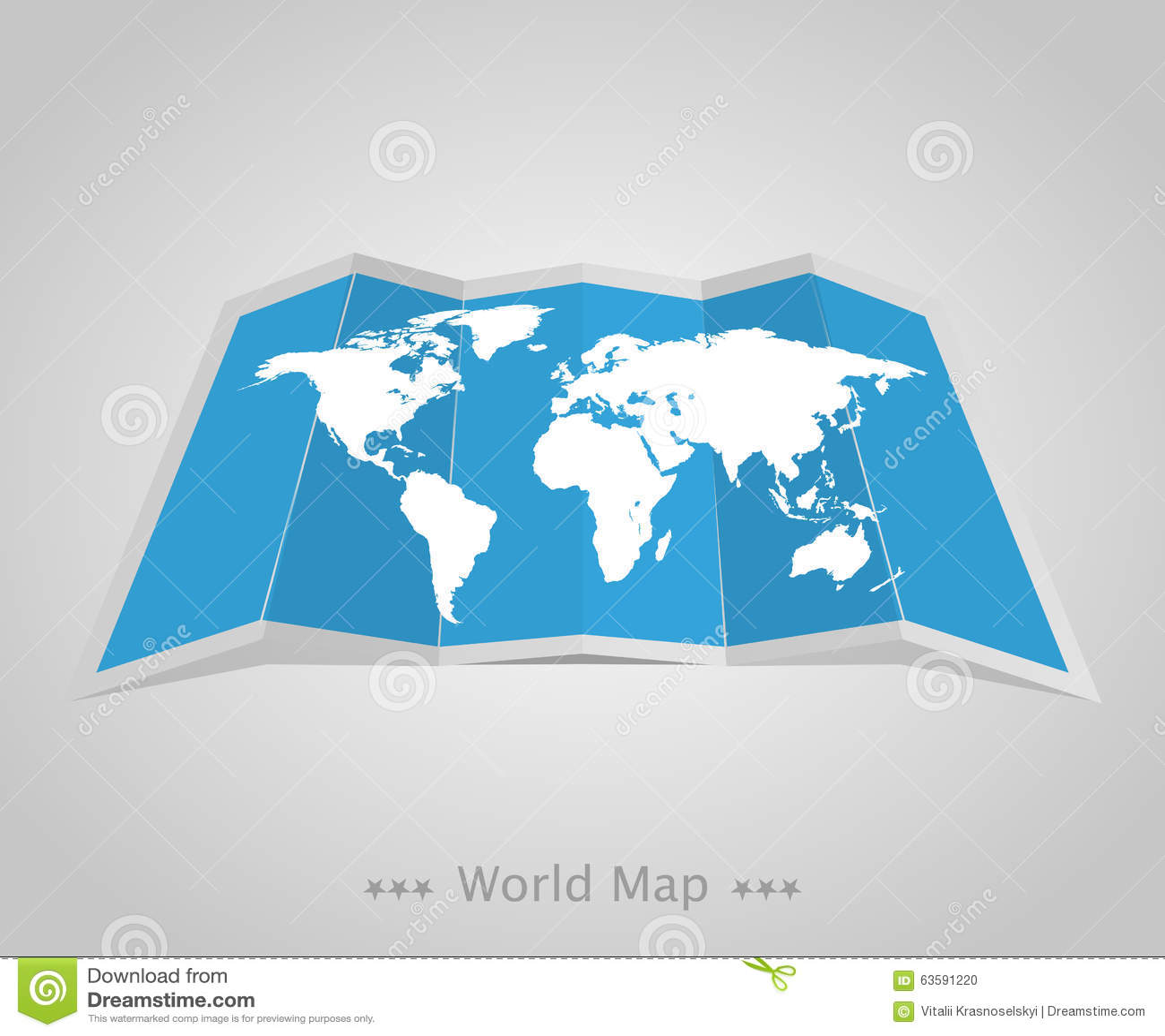 Παγκόσμιος χάρτης με τη σκιά σε ένα γκρίζο υπόβαθρο