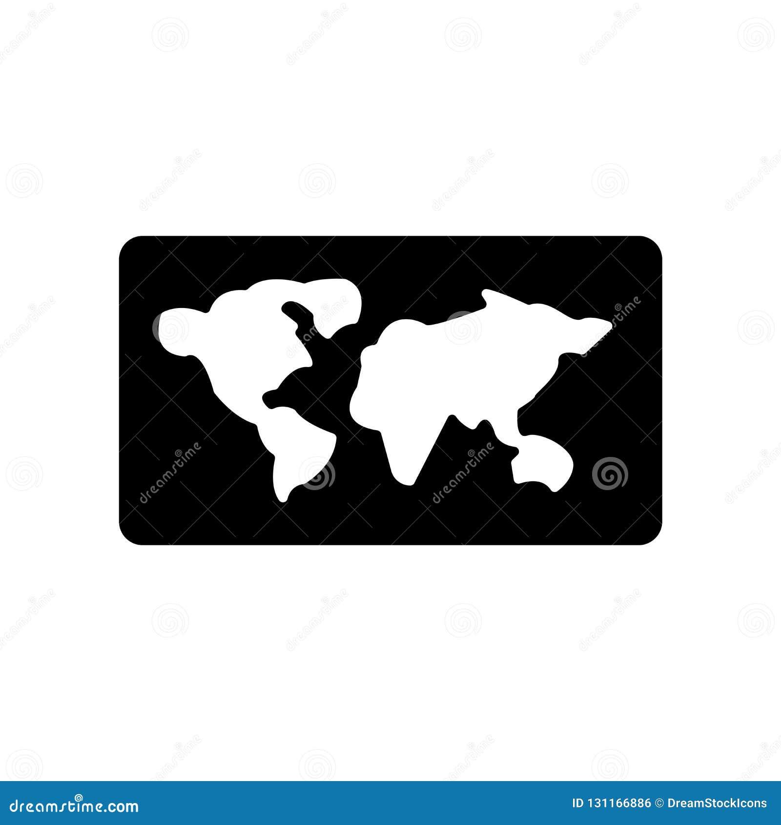 Παγκόσμιο διπλωμένο χάρτης εικονίδιο Καθιερώνουσα τη μόδα έννοια παγκόσμιων διπλωμένη χάρτης λογότυπων στο W