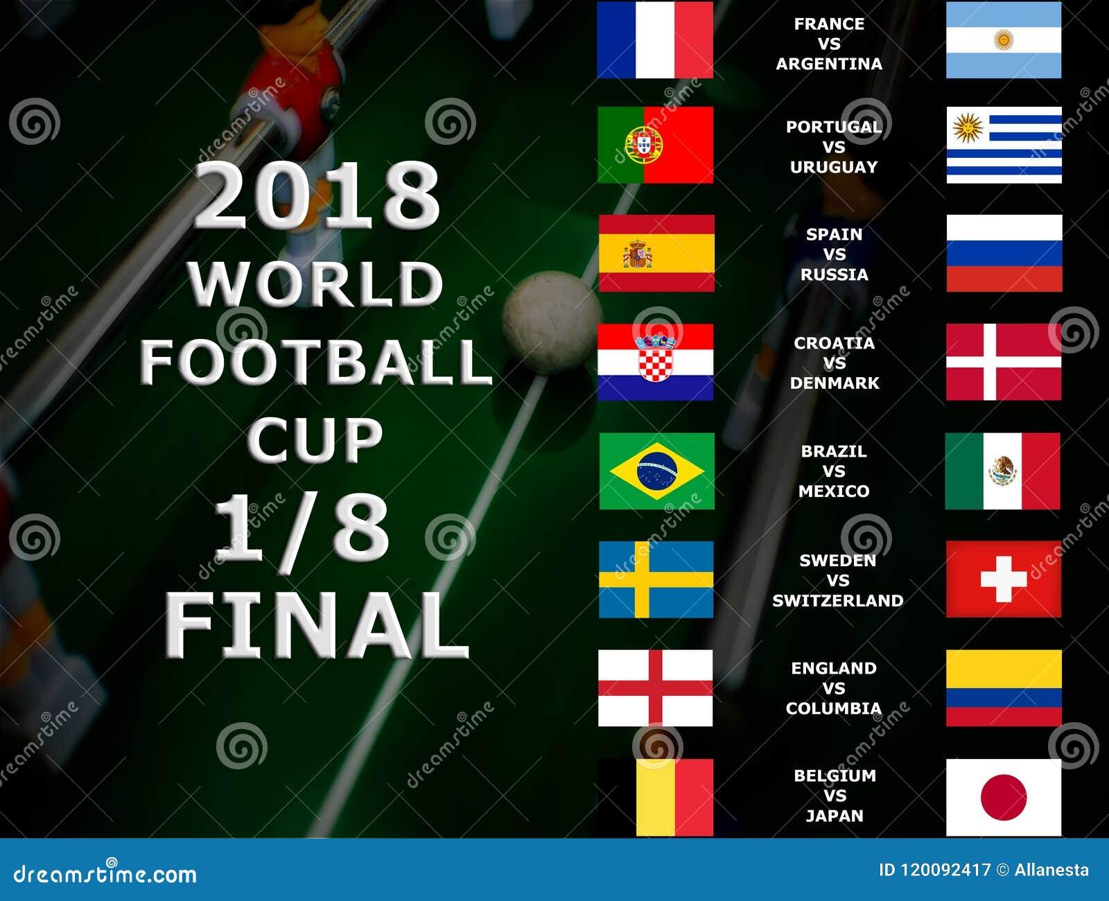 Παγκόσμιο Κύπελλο Ρωσία 2018, αγώνας της FIFA ποδοσφαίρου πρωτάθλημα τελικός Ένας όγδοος του φλυτζανιού Βέλγιο, Ιαπωνία, Βραζιλία